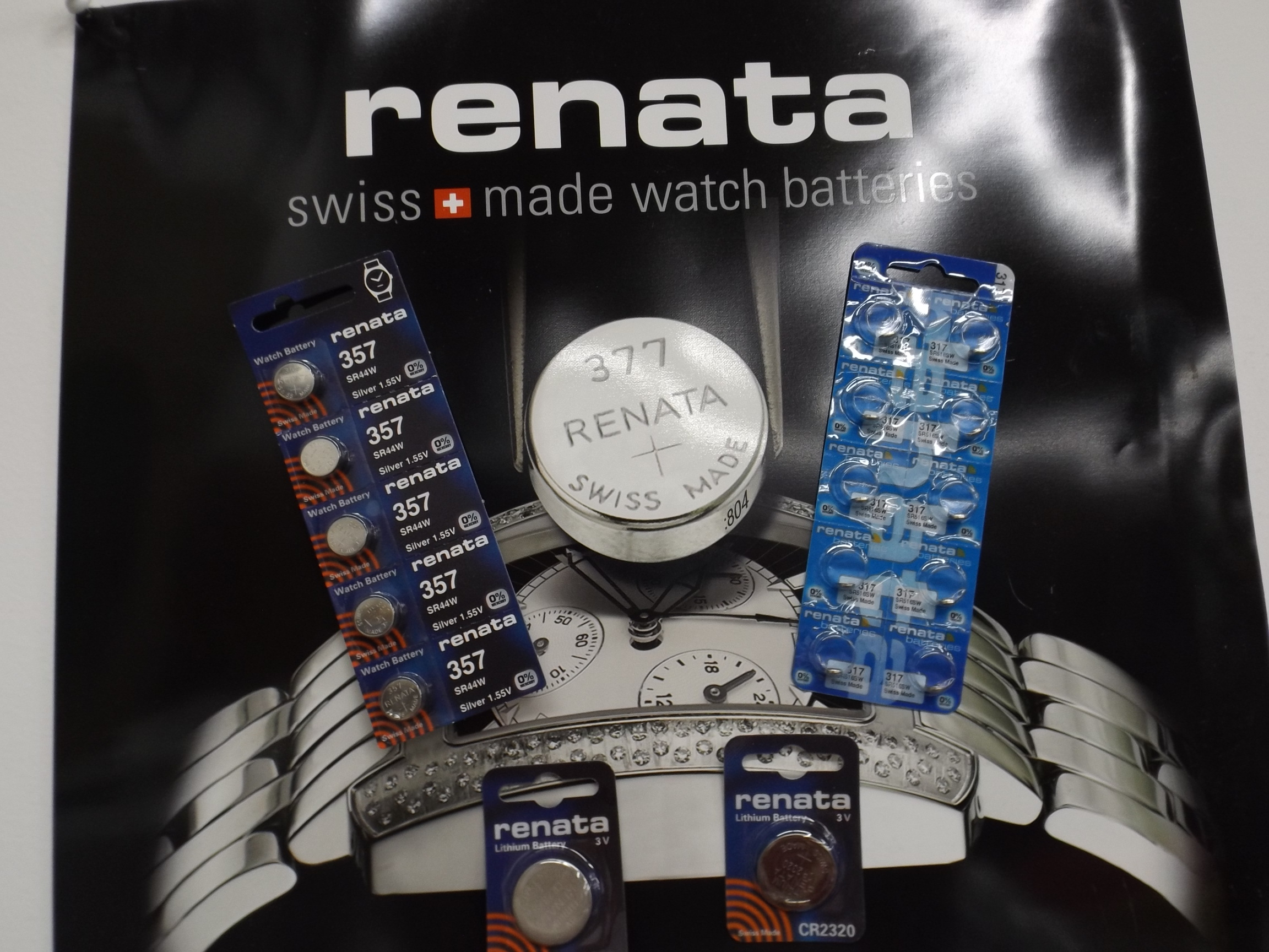 RENCR2032 Renata Watch Batteries-Lithium, sold by 5's