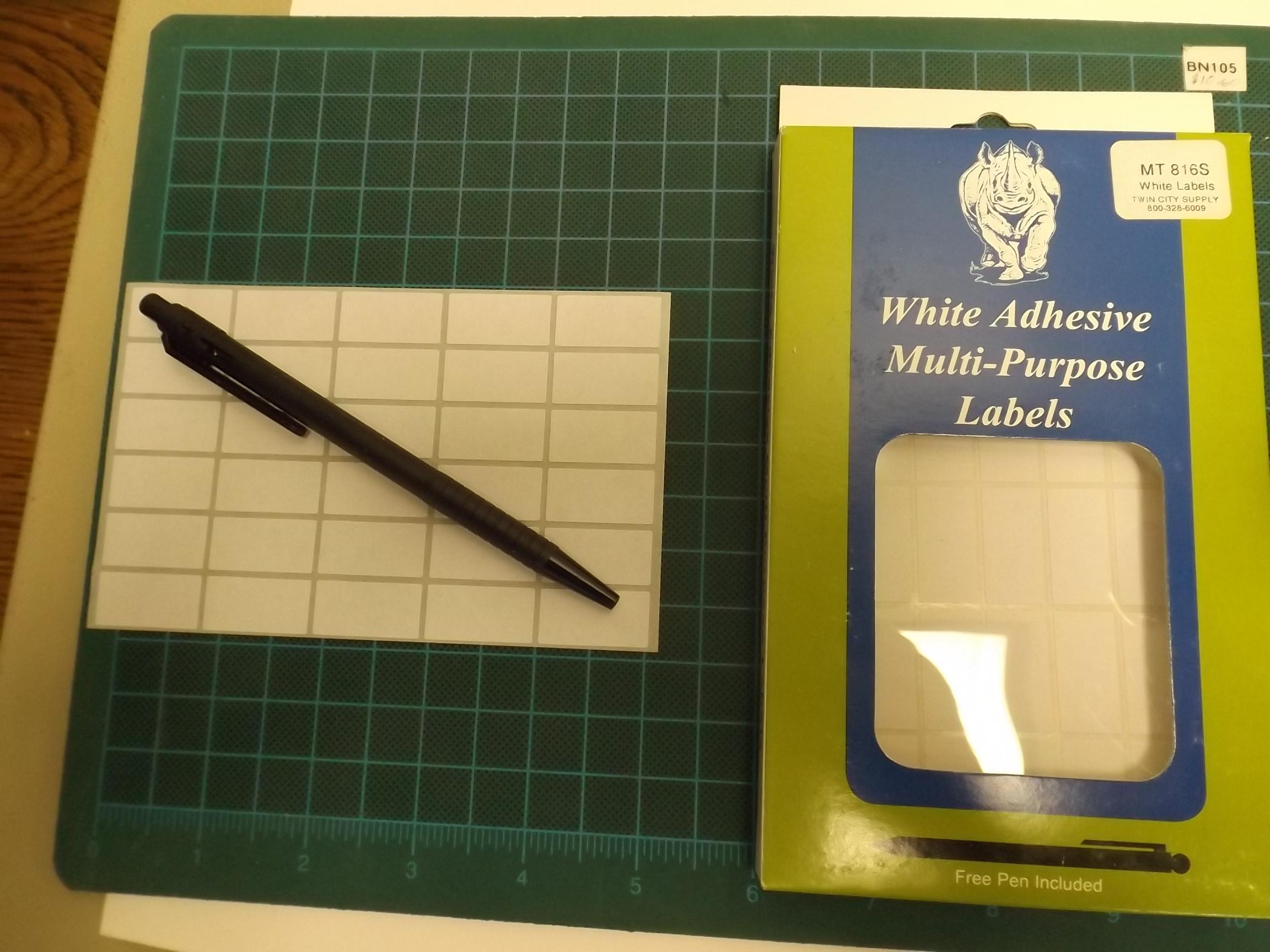 MT816S White Adhesive Multi-Purpose Labels--rectangular