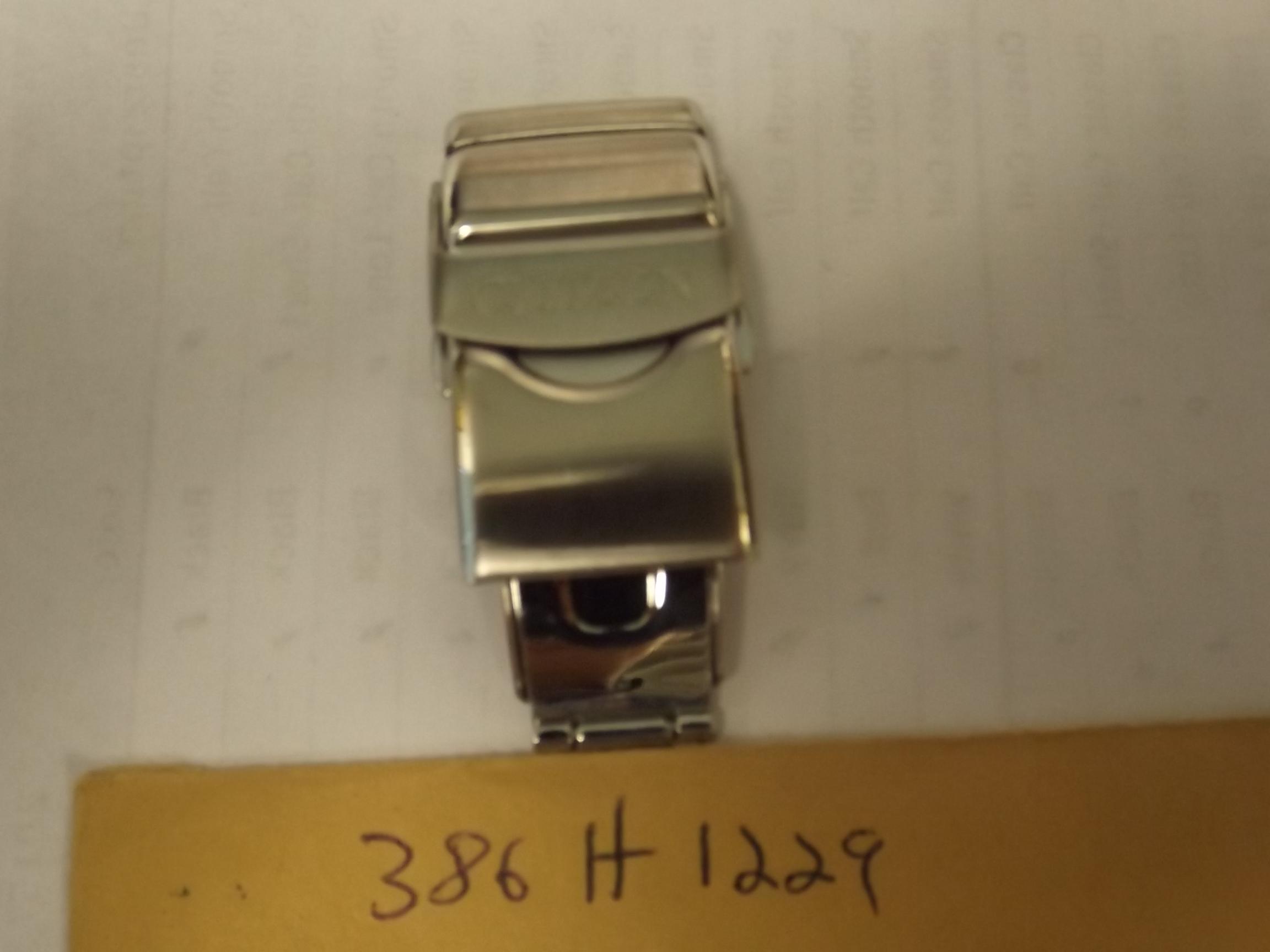 386-H1229 Citizen Men's Tri- Fold Push Button Clasp, silver, 19.5 mm-- last one