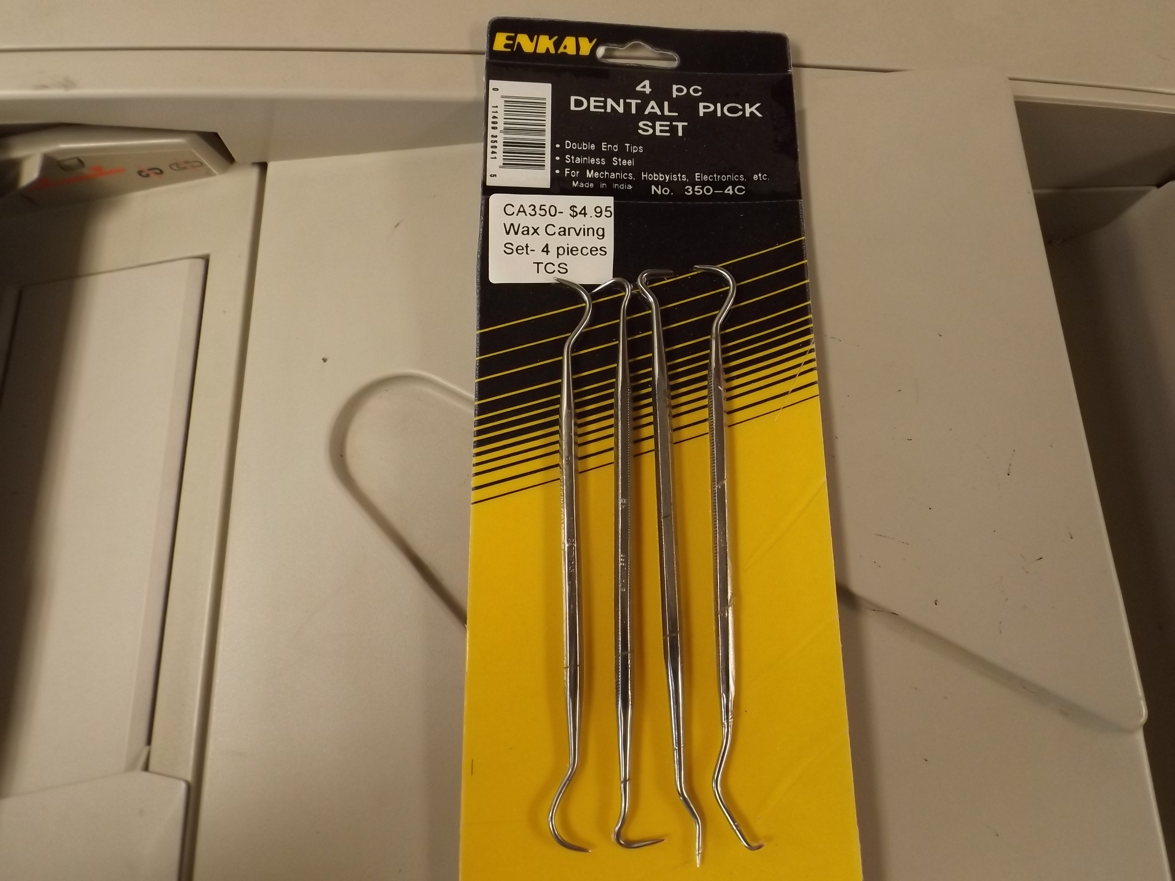 CA350 Wax Carving Set/Dental Pick Set--4pieces- from Enkay