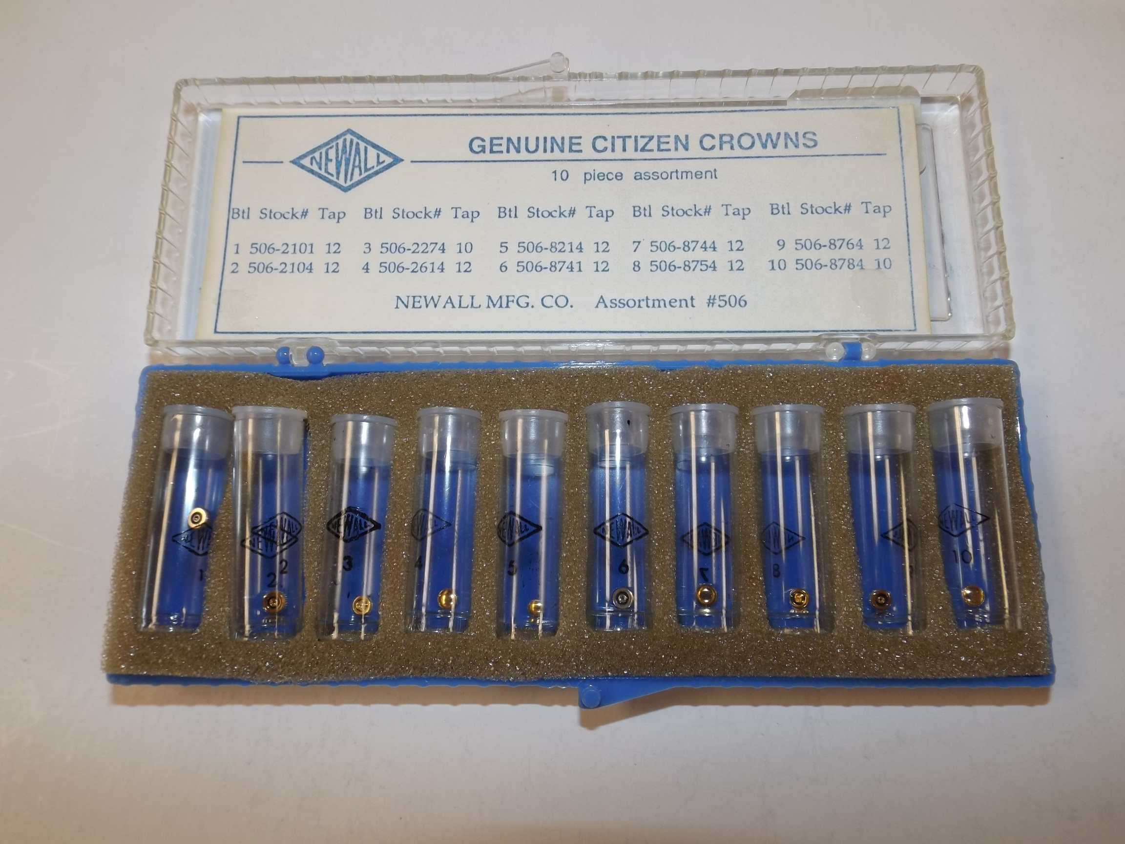 #506 Citizen Assortment of 10 Original Popular Watch Crowns--Last One! Newall