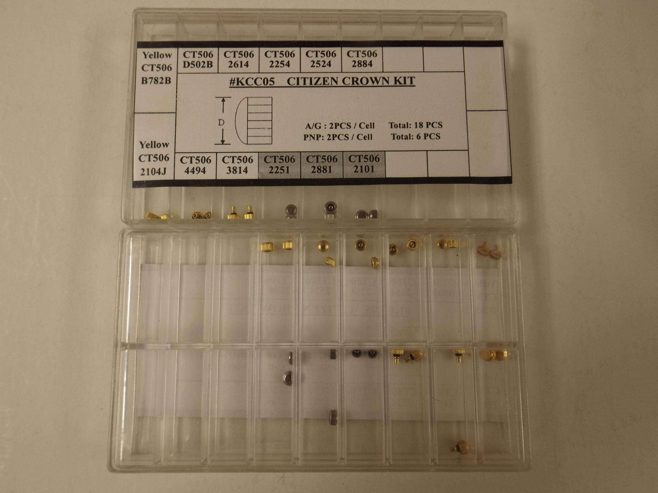 KCC05 Citizen Assortment of 24 Original Popular Watch Crowns--while two remain!