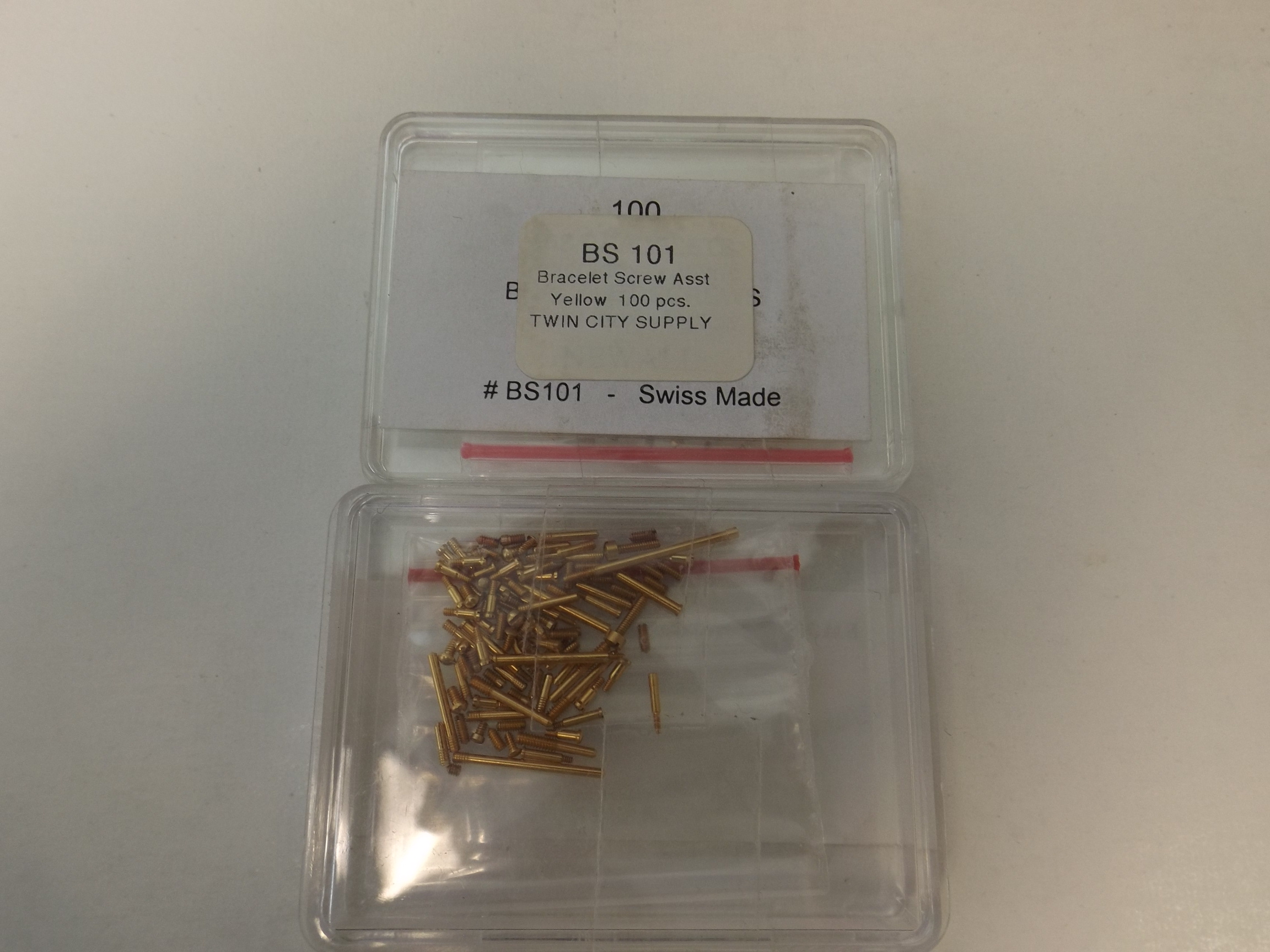 BS101 Bracelet Screw Assortment--Yellow- 100 pieces--Newall