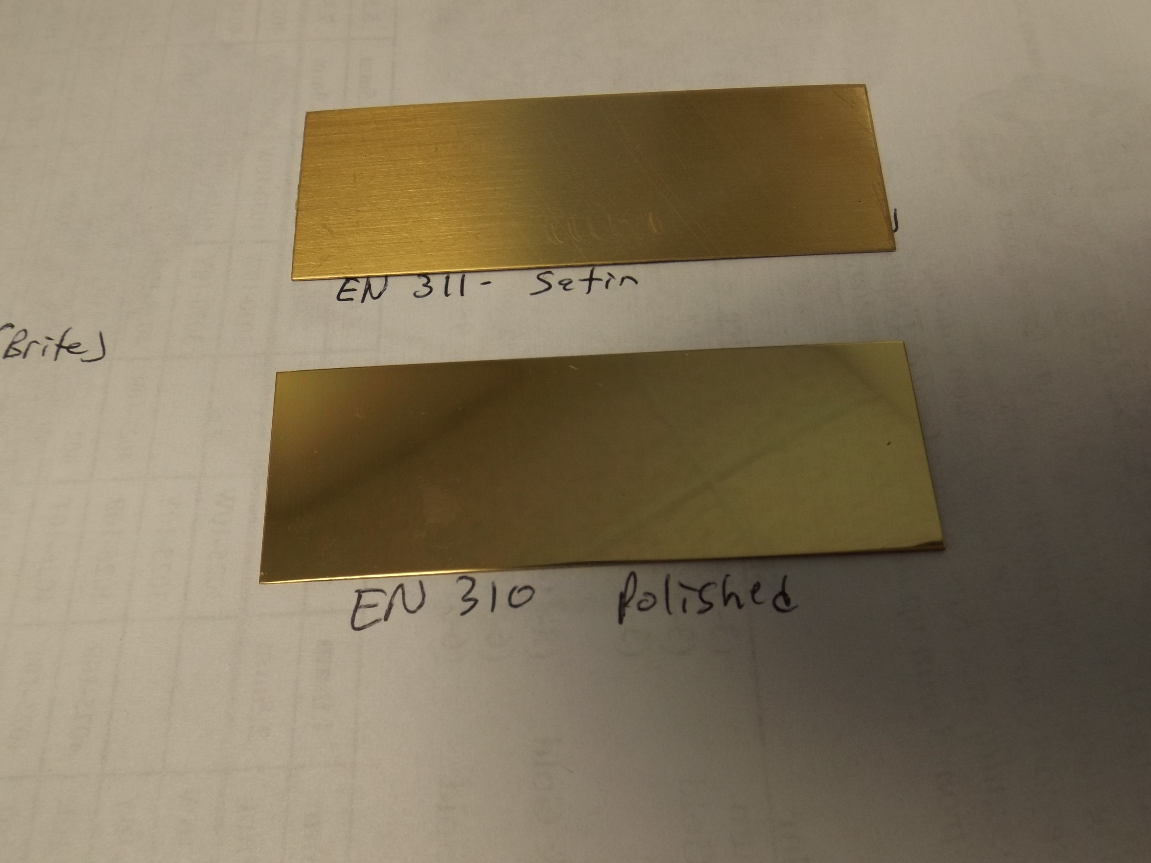 "EN310 Engraving/Trophy Plates-Brass 3"" x 1"" Polished (brite) Finish"