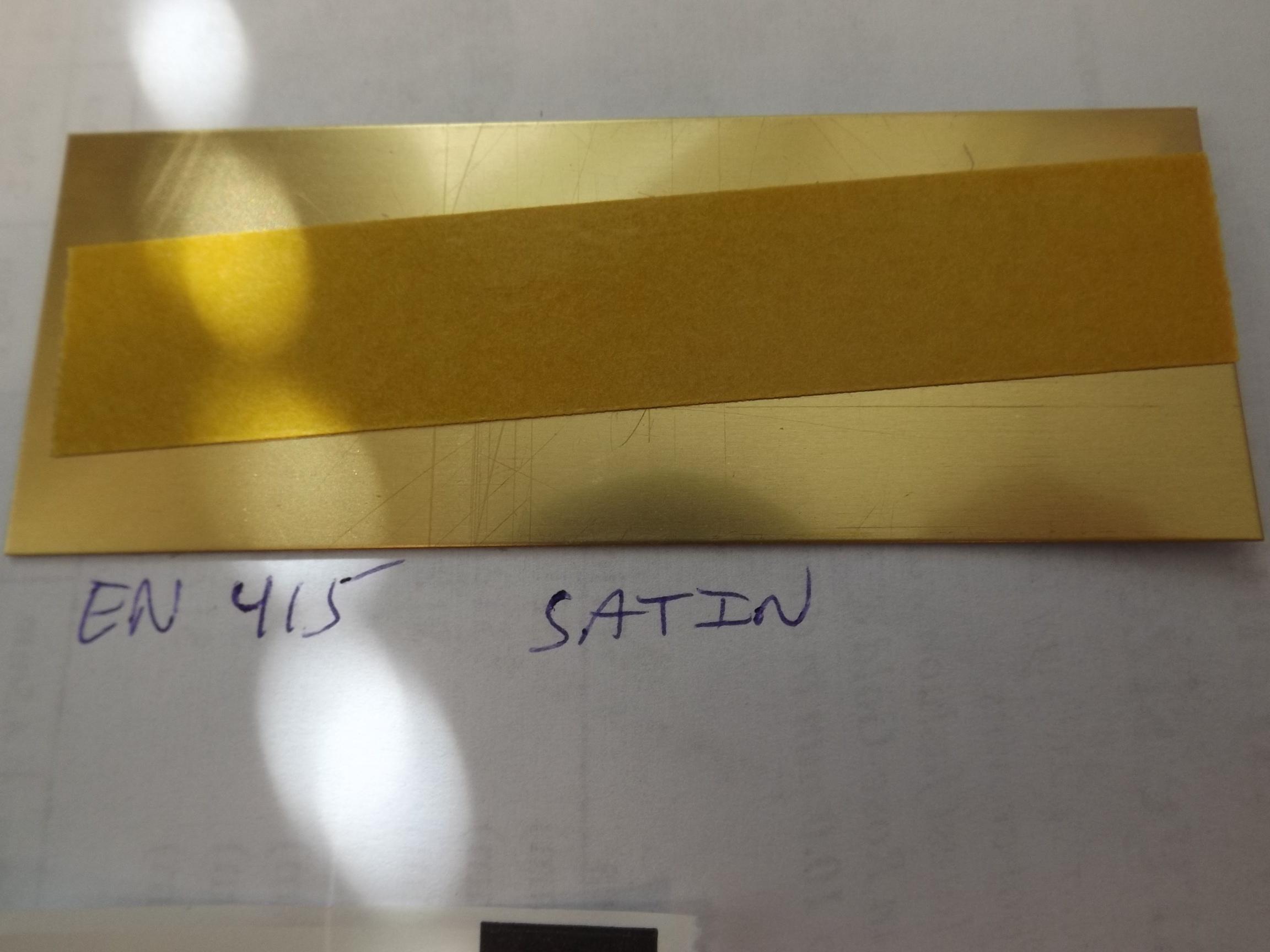 "EN415 Engraving/Trophy Plates-Brass 4"" x 1 1/2"" Satin Finish"