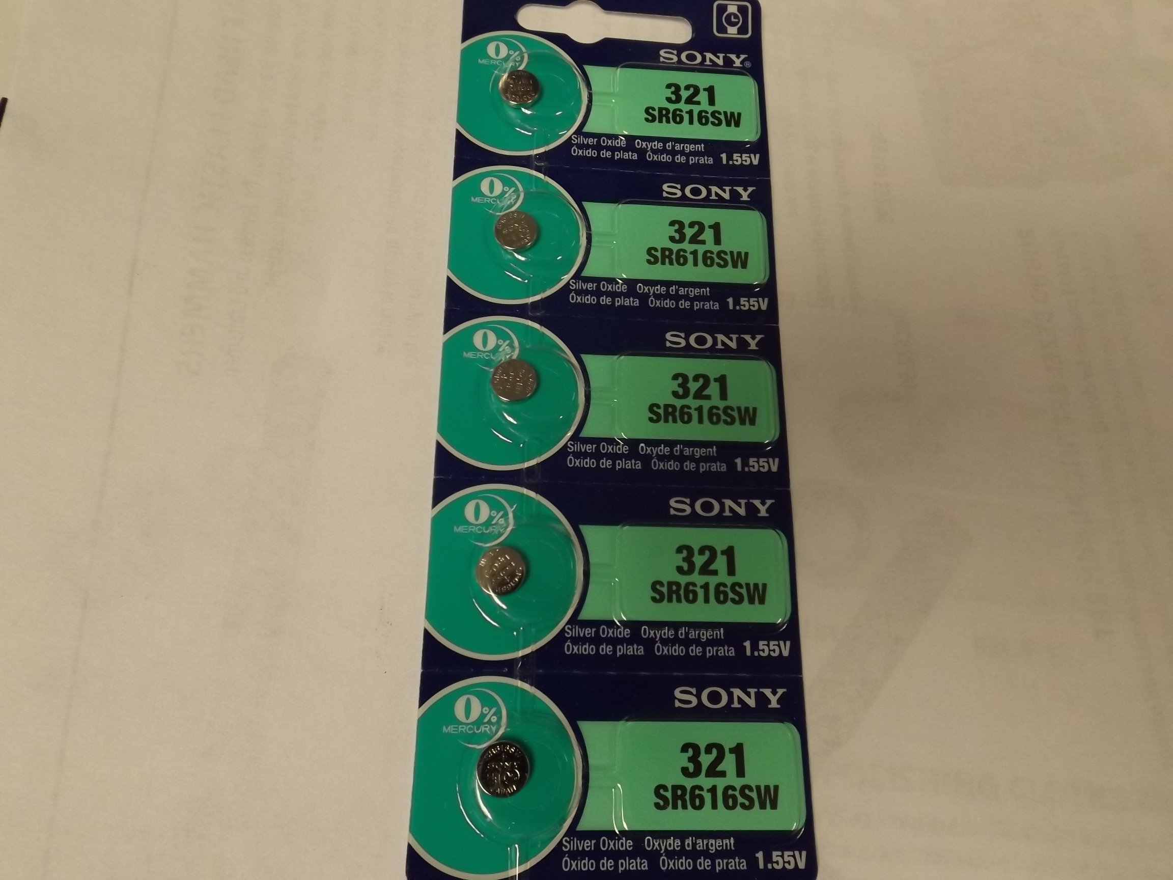 SON321 New! Sony 321 Watch Batteries (SR616SW)