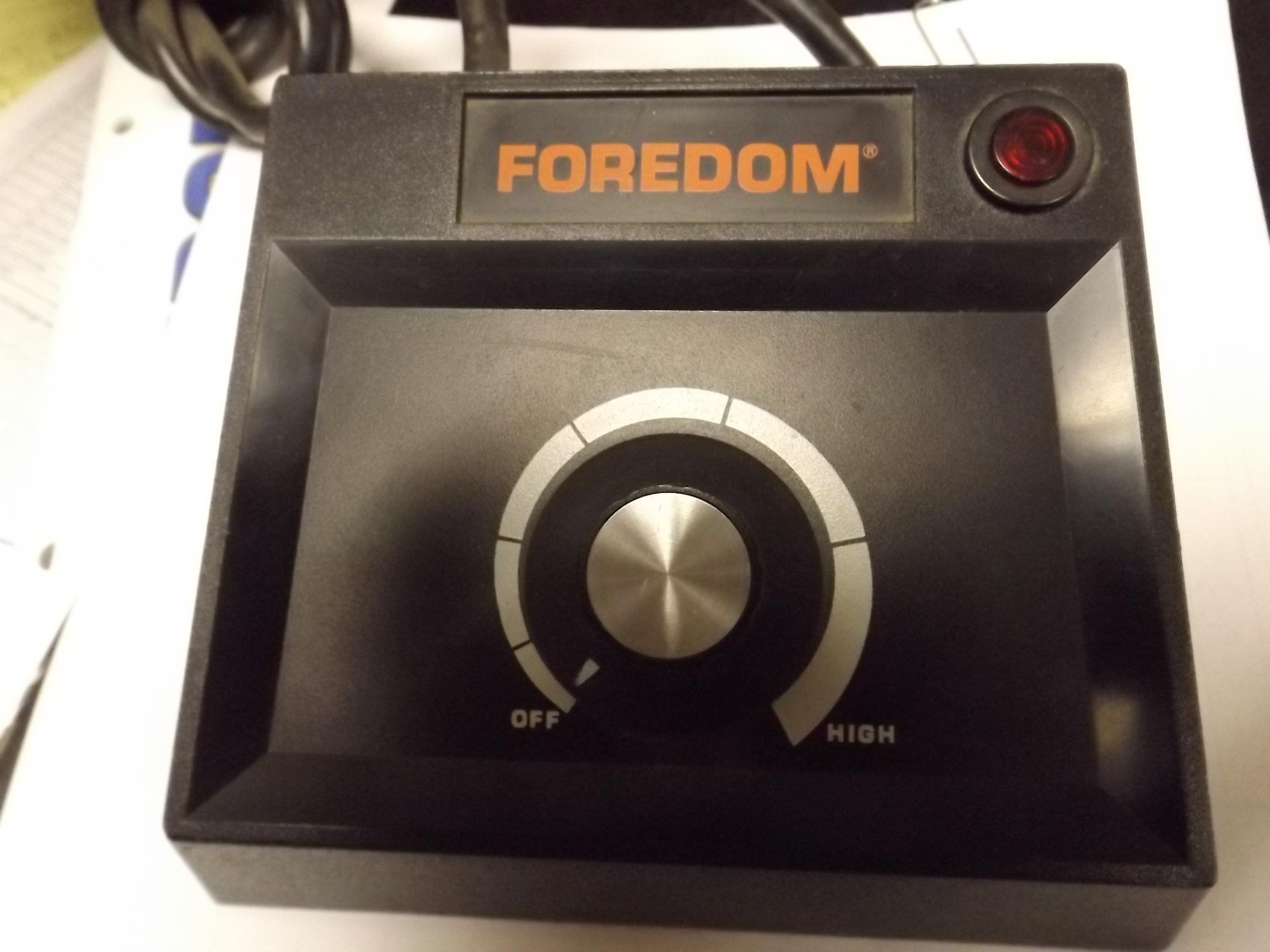 MO-EMR Foredom Manual Control Unit for R Series Flexshafts-- 1 Only--sold as is