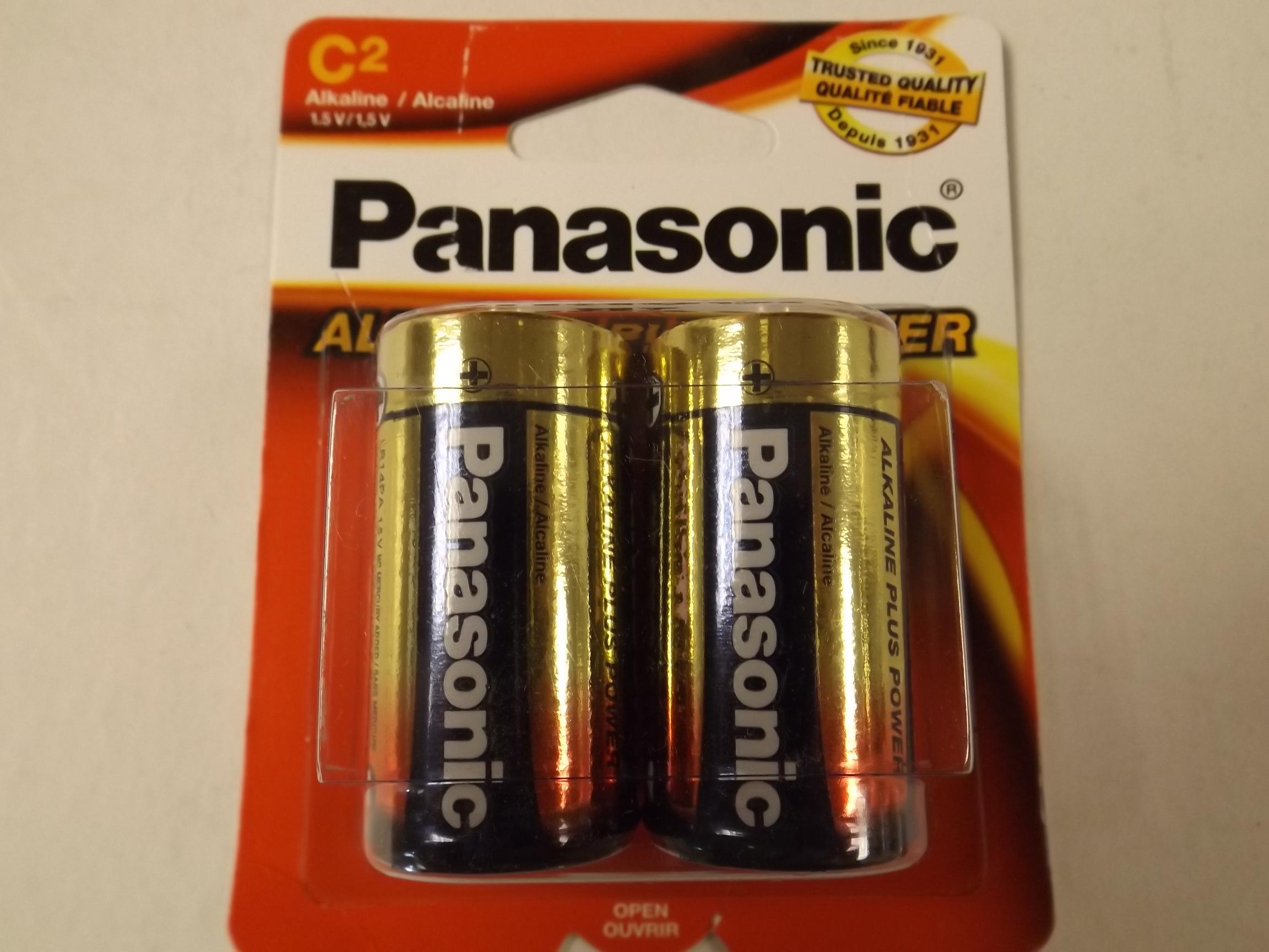PANC New! Panasonic C Batteries- 2 Pack!