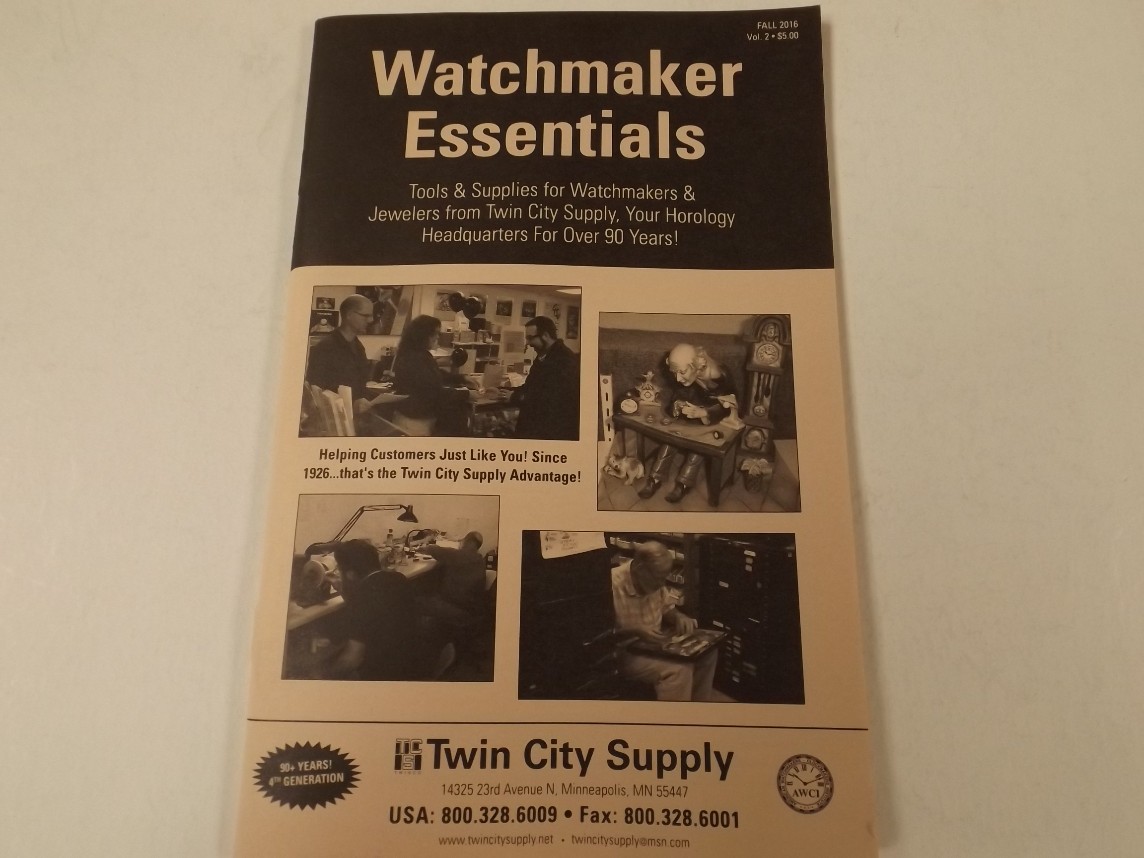 CAT- WE2016 Watchmakers Essentials Booklet--64 pages
