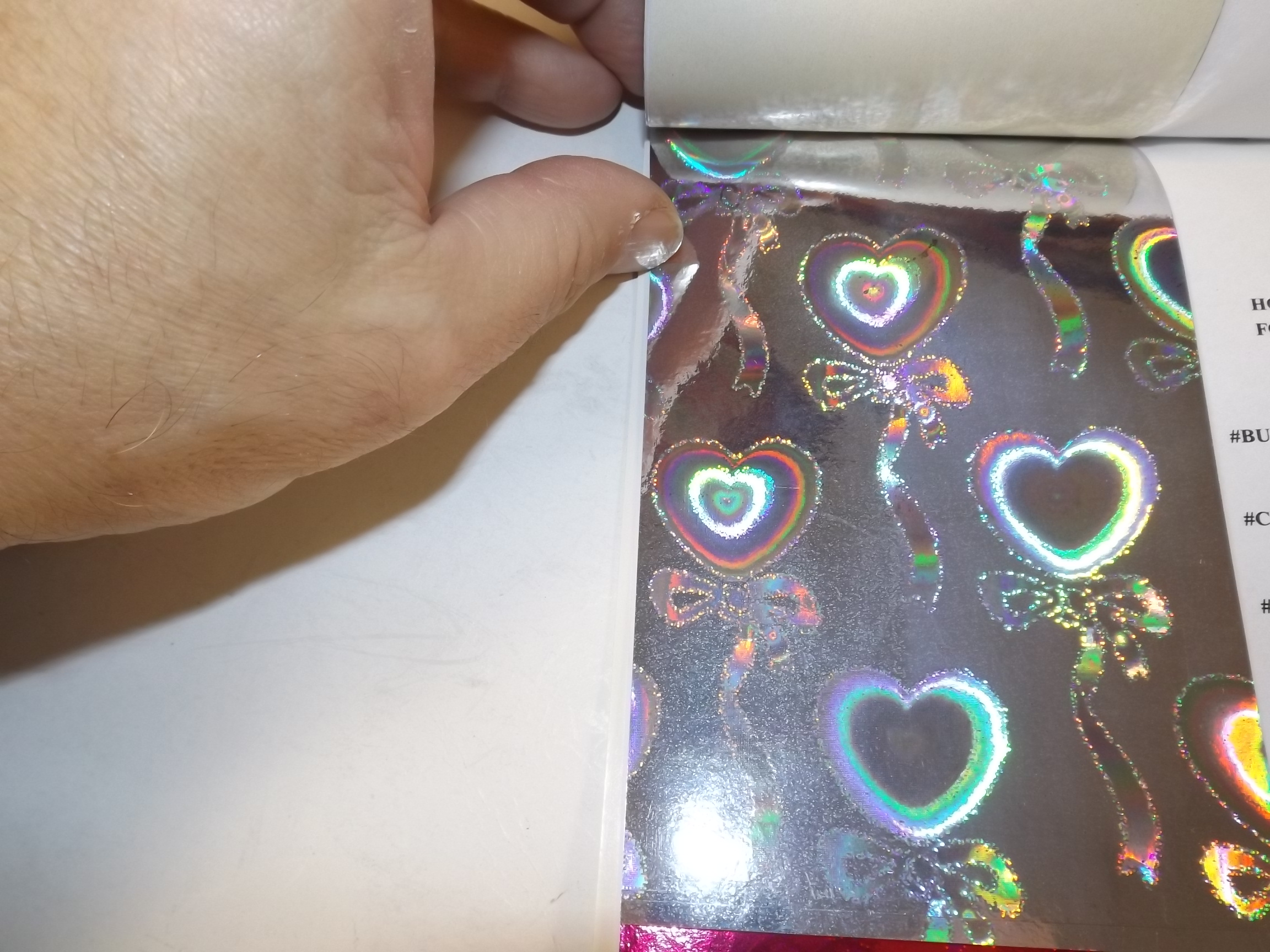 PA098 Jewelers Roll- Foil Silver Hearts- Holographic-New!