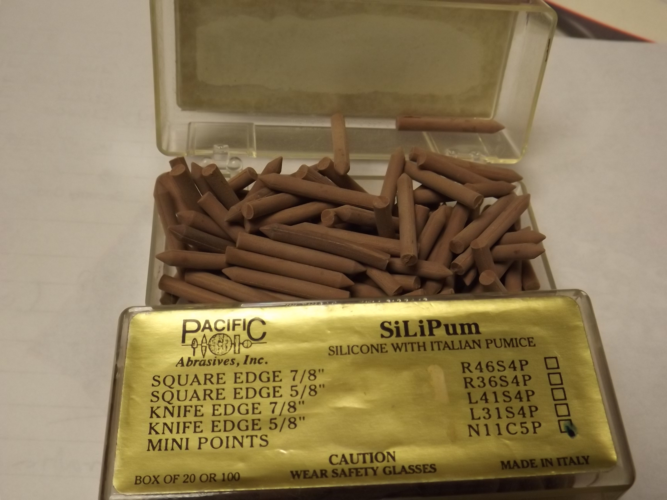 ST1105T Pacific Abrasive's SiliPum- Mini Points bx of 100-Old Stock! N11C5P