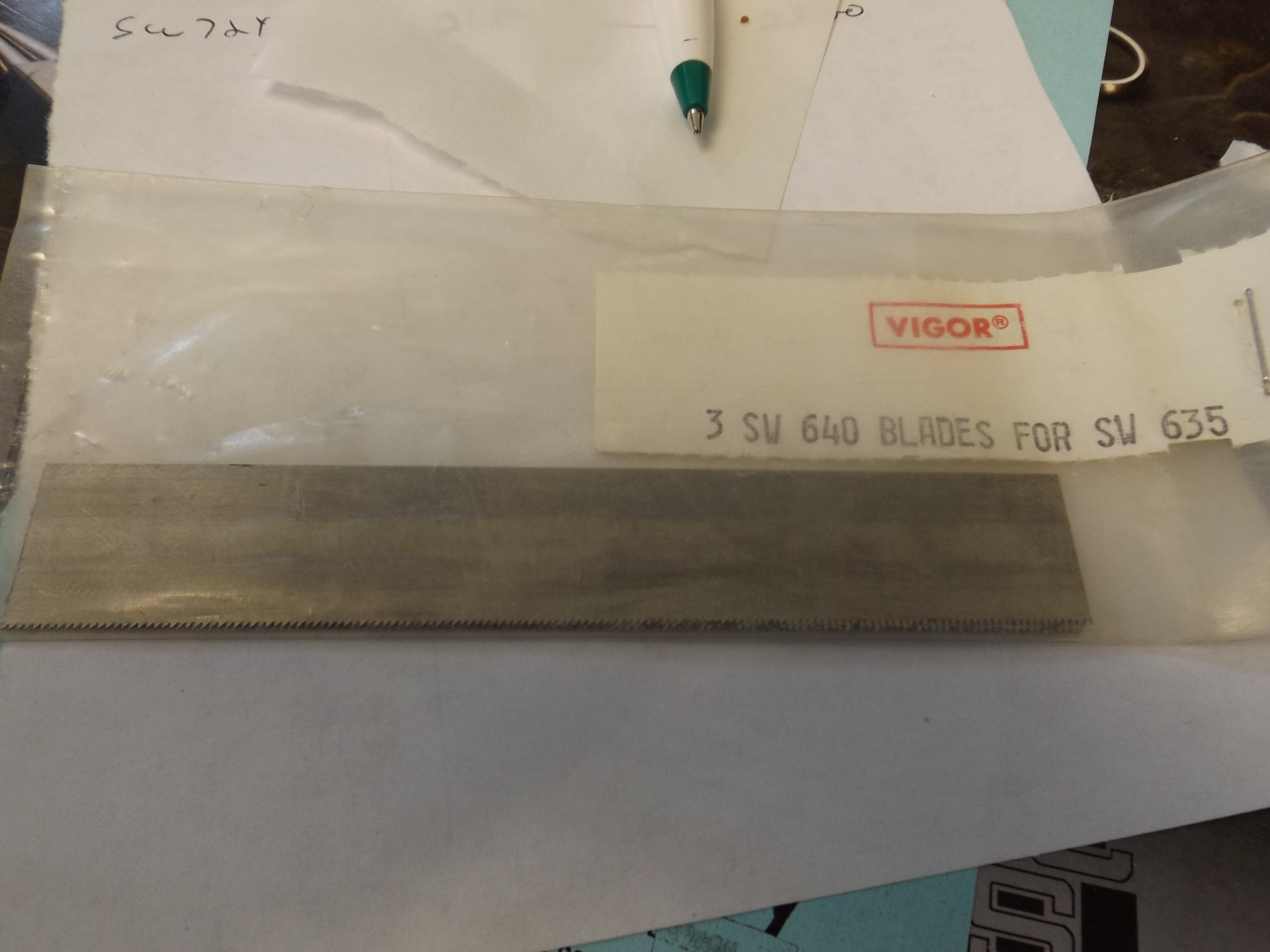 SW640 Pkg of 3 Blades to fit SW635 Back Saw--Discontinued item- two sets left!
