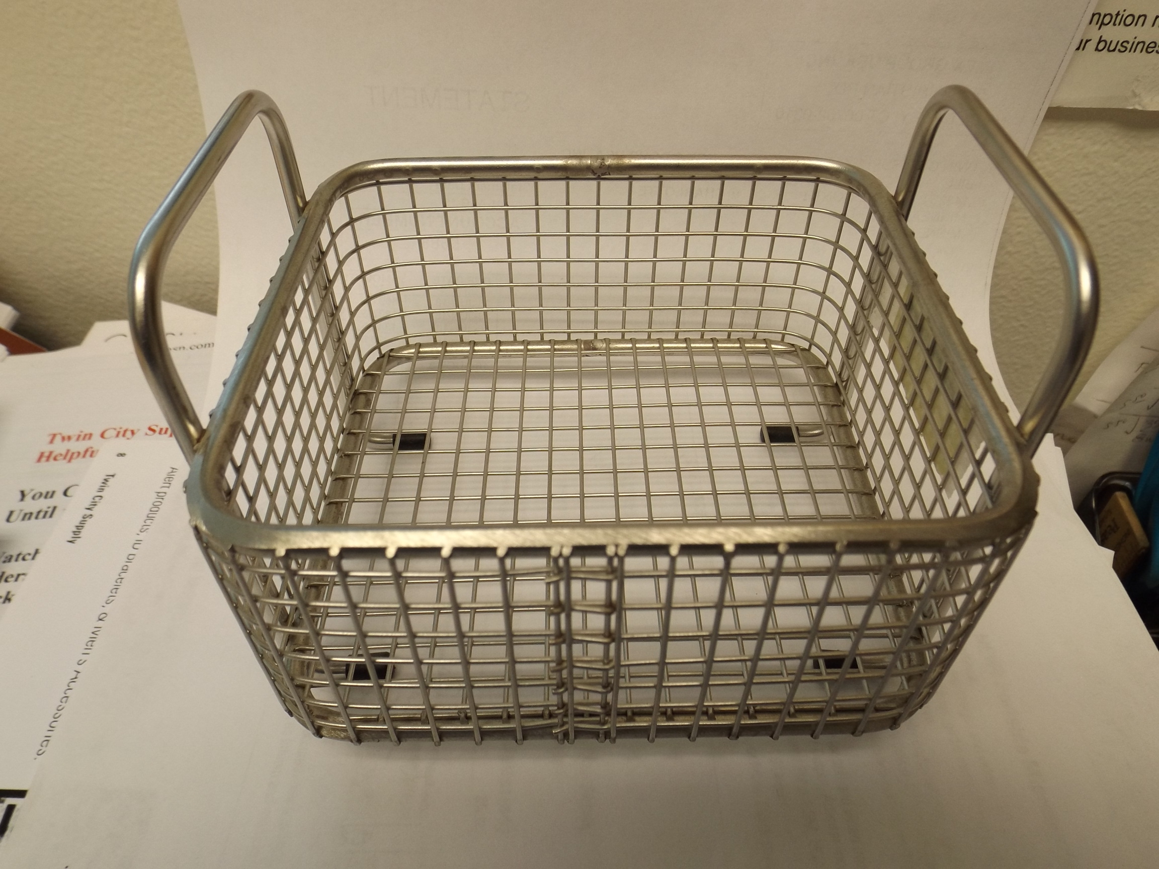 CL1708 Stainless Steel Mesh Basket for Ultrasonic Machines-- Newall- last One!