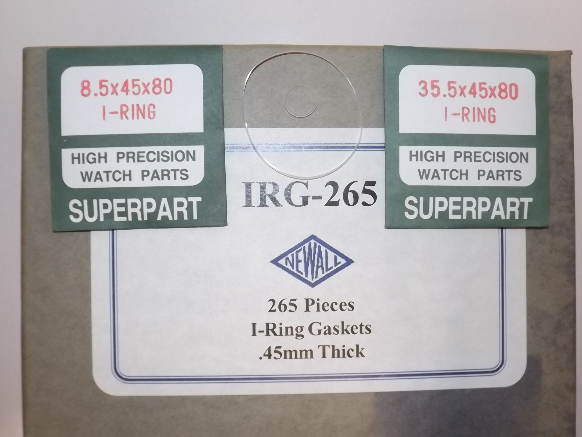 IRG265 New! I-RING Crystal Gaskets Assortment--53 sizes, 265 Pieces-Newall