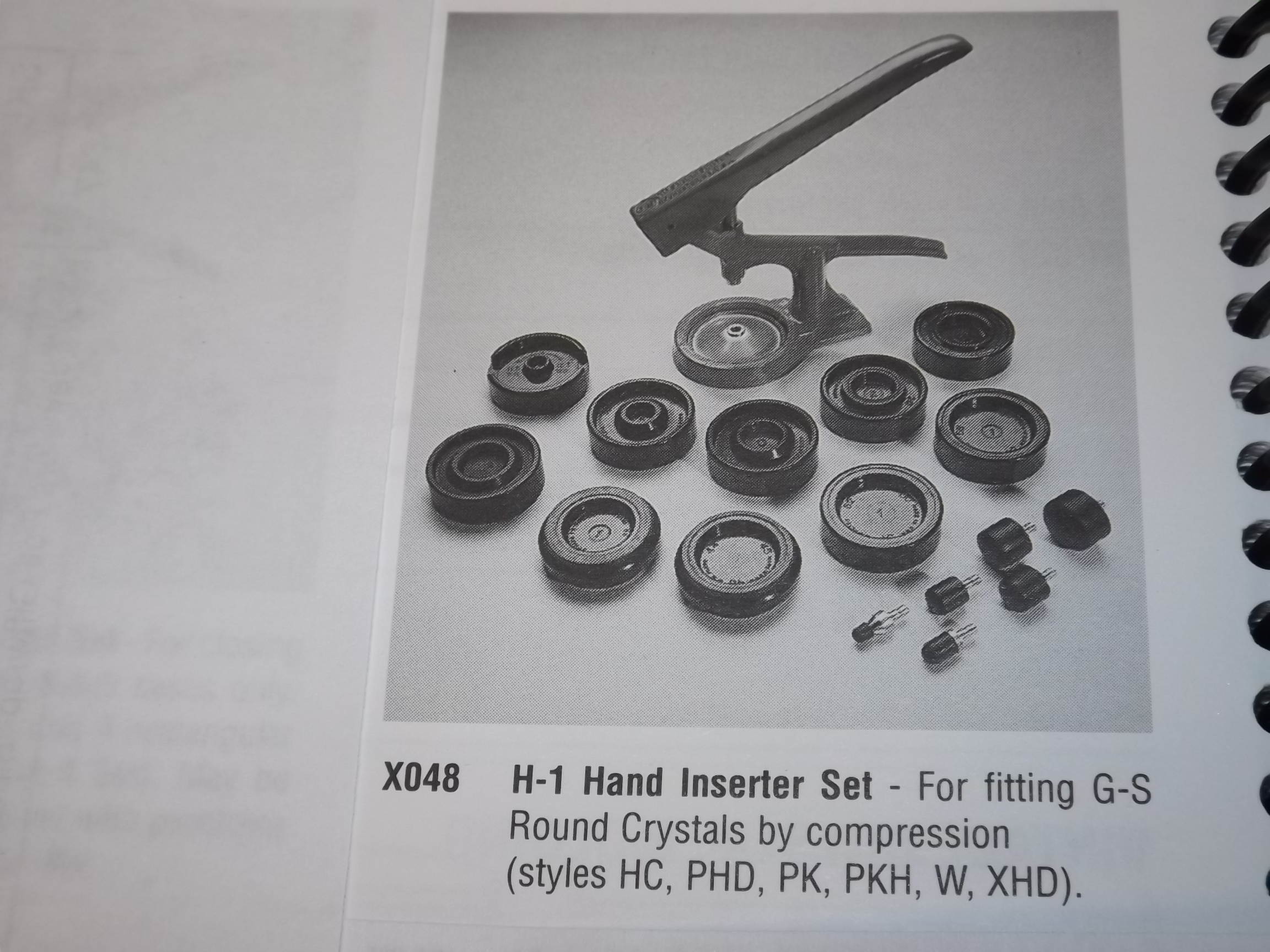 GS H-1 G-S Hand Inserter Set One Only!