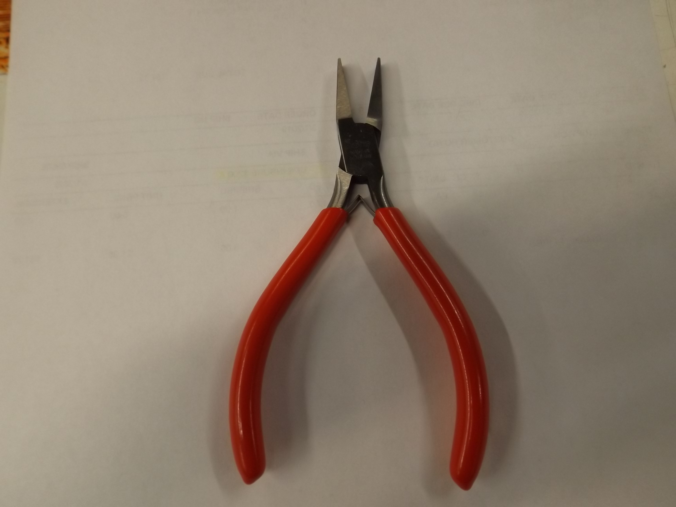"PL1156 New! Flat Nose Pliers with Serrated Jaws-5""- Ikohe # 41-1156"