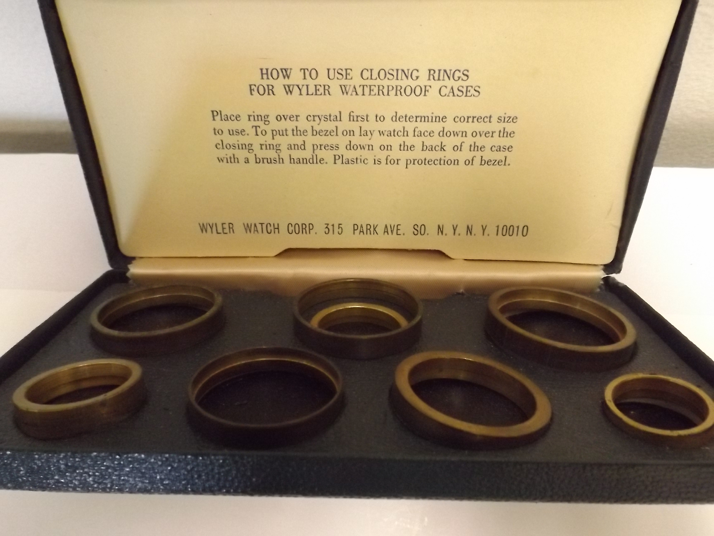 WCC001 Set of Closing Rings for Wyler Waterproof Cases--One only!