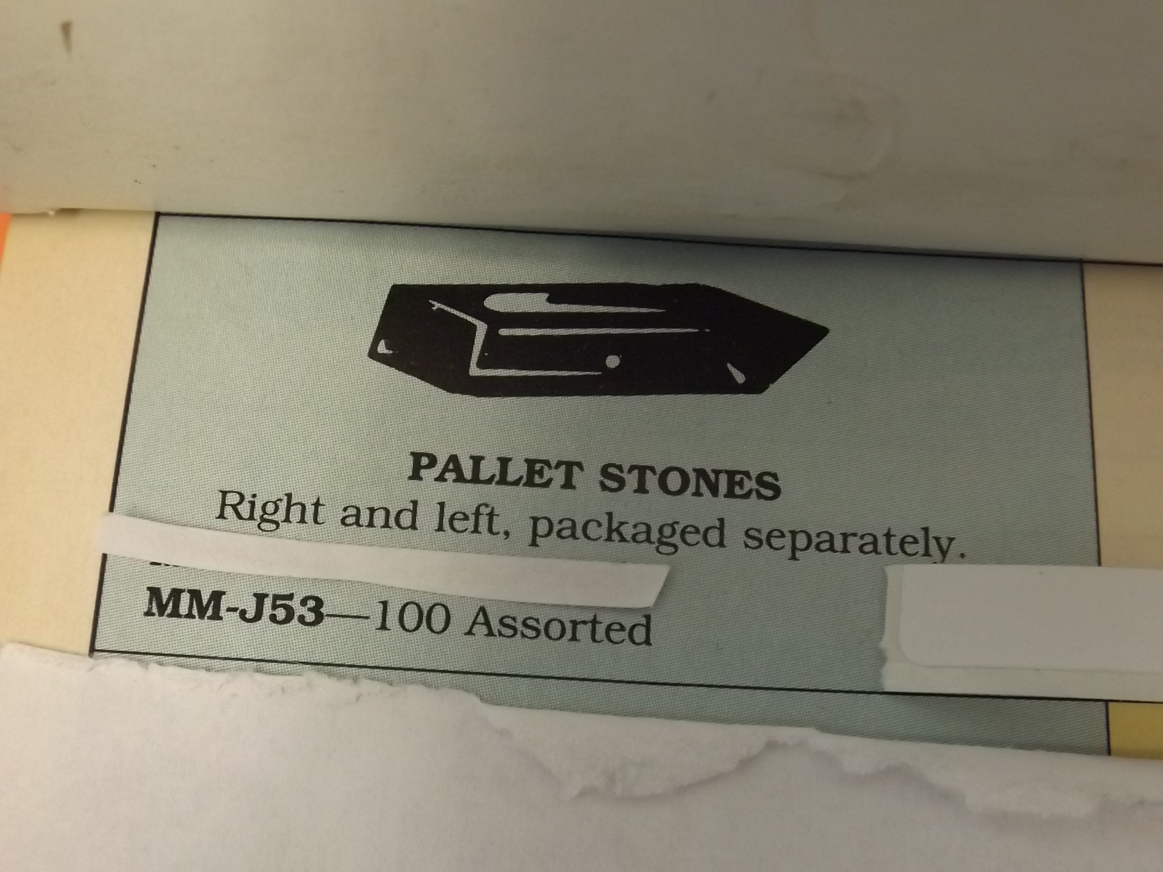 MM-J53 Pallet Stones, 50 right & left, Bracelet- 100 pieces- Bestfit - Two Only!