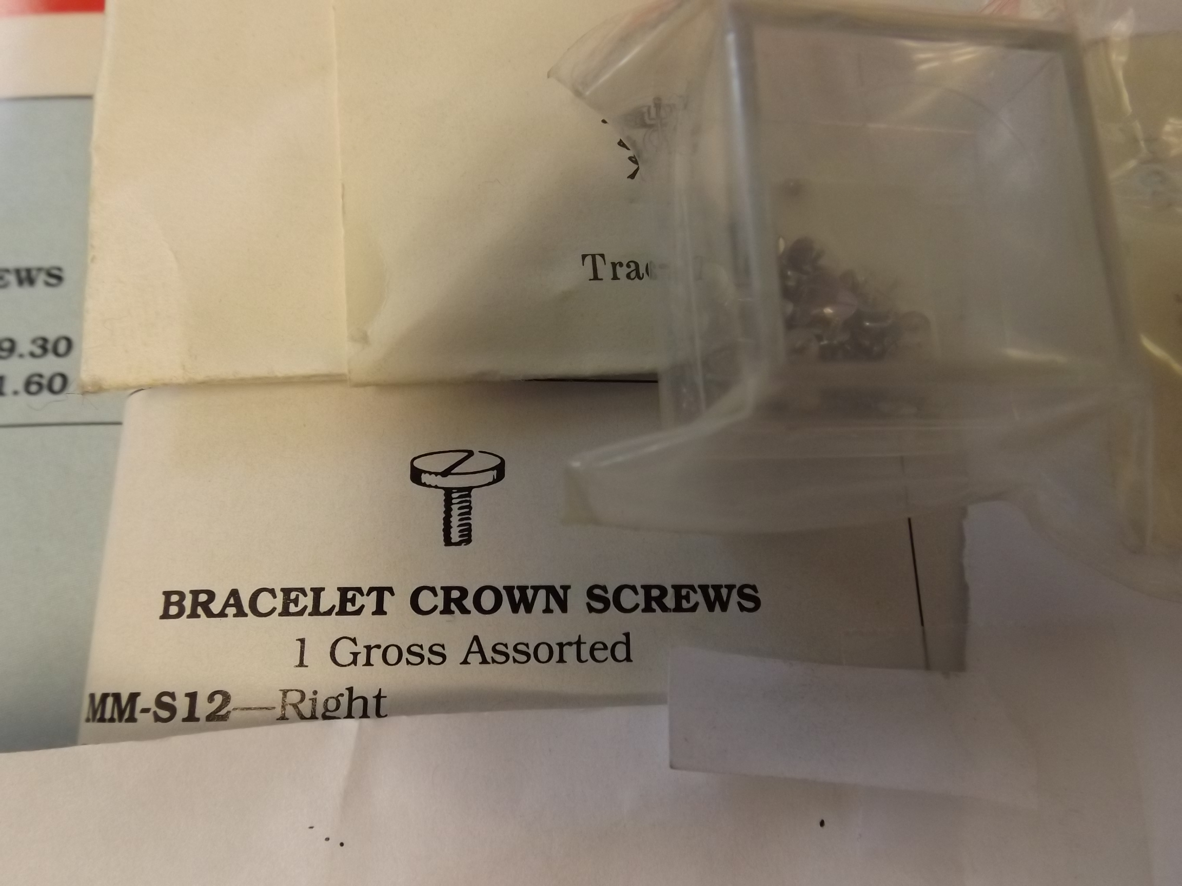 MM-S12 Bracelet Crown Screws- Right- 1 Gross- Vigor- Three Only!