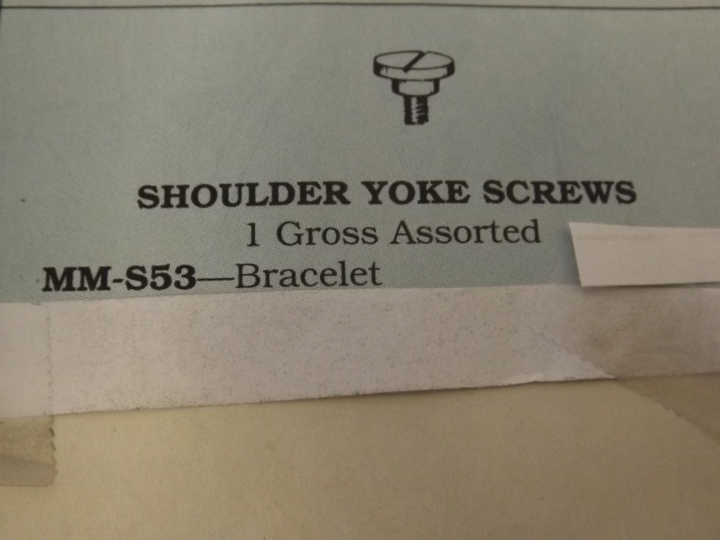 MM-S53 Shoulder Yoke Screws - Bracelet- 1 Gross- Bestfit - Two Only!