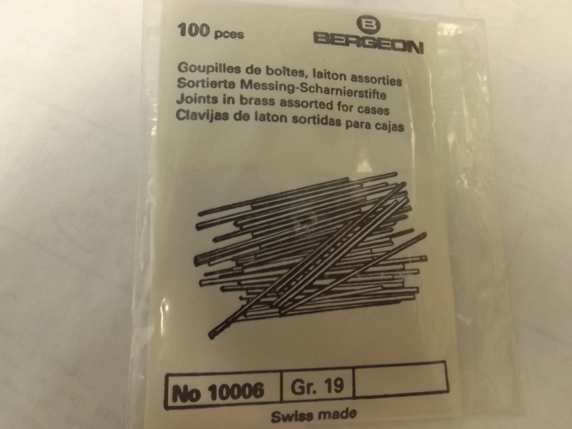 10006 Bergeon Joints in Brass, assorted, for cases--Swiss- Last One!