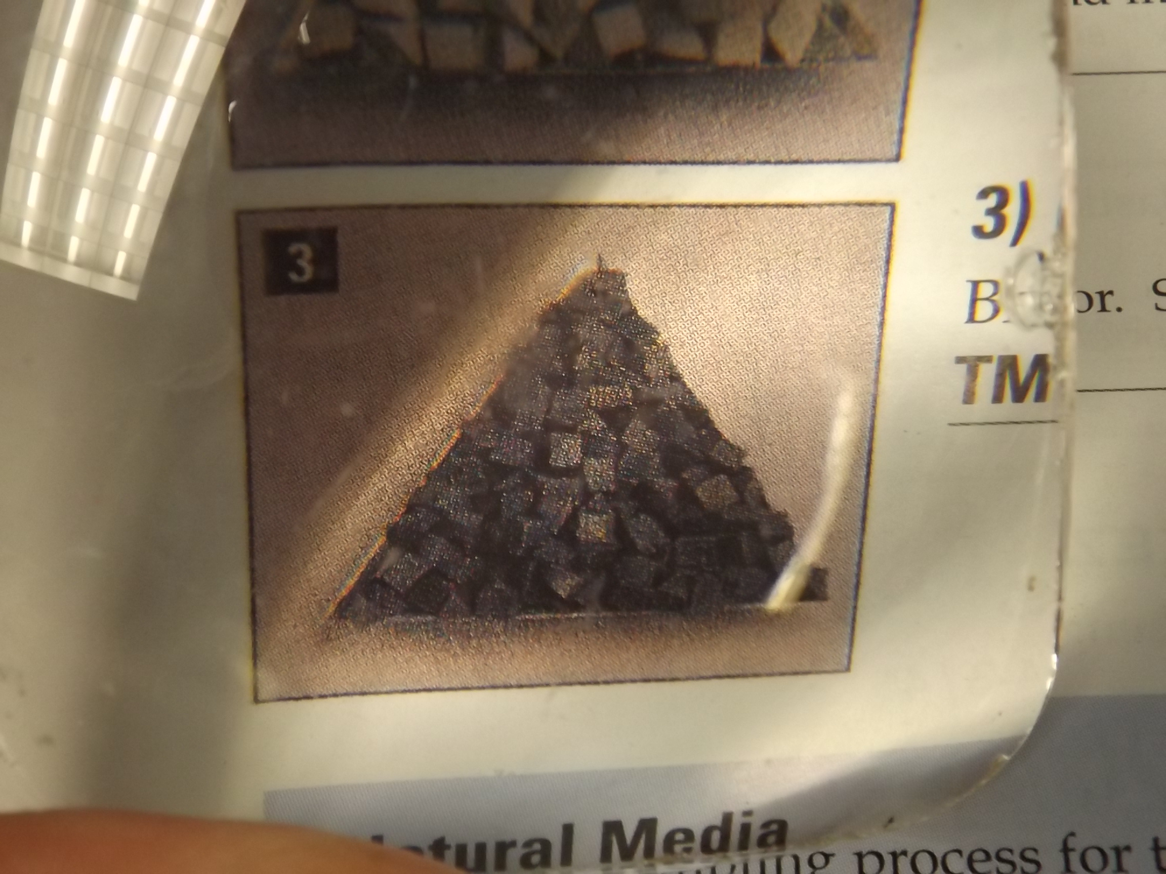 "TM139/5 Plastic Media- 1/4"" Aluminum Oxide Triangles, Coarse--5 lbs-Vigor- Last One!"