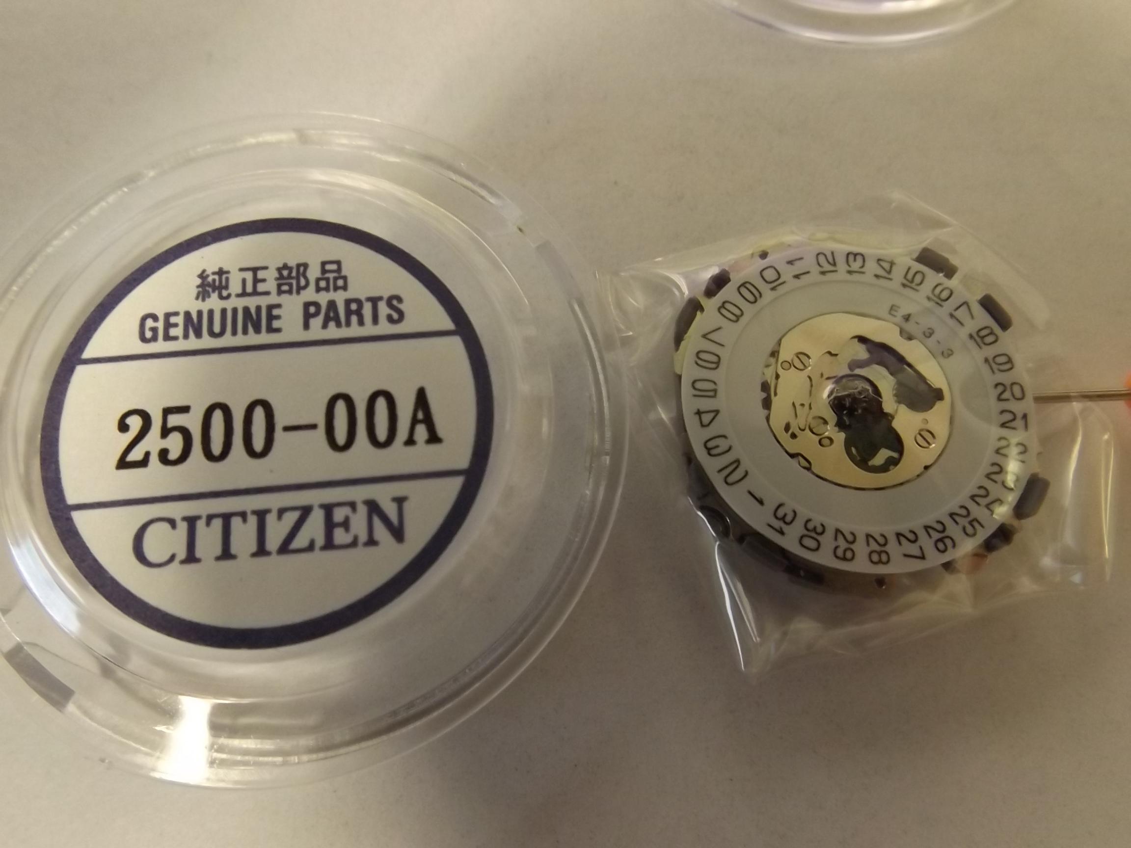 CIT2500 Quartz Watch Movement Date @3 - Citizen