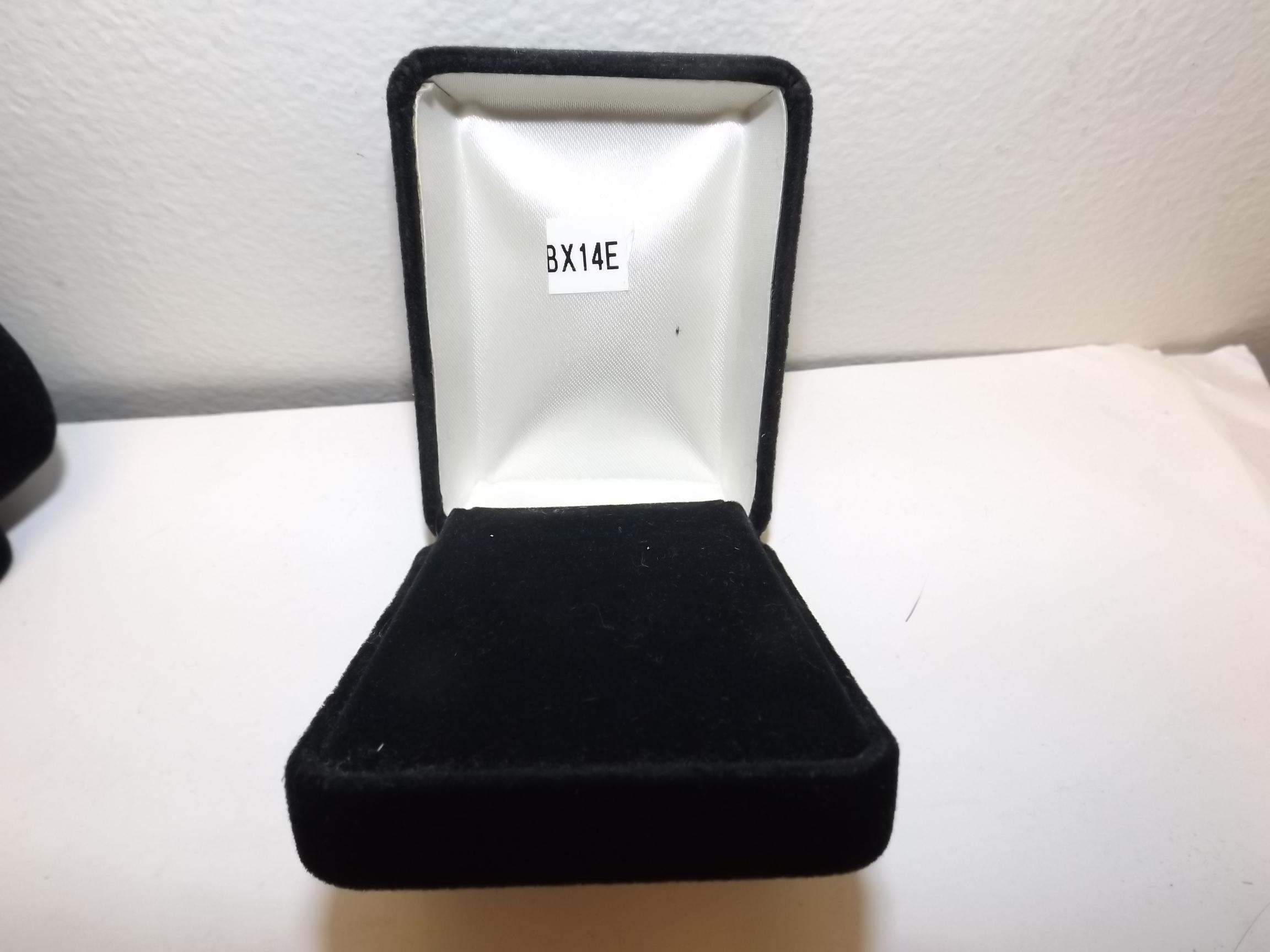BX14E Pendant/earring Boxes--Black Velveteen