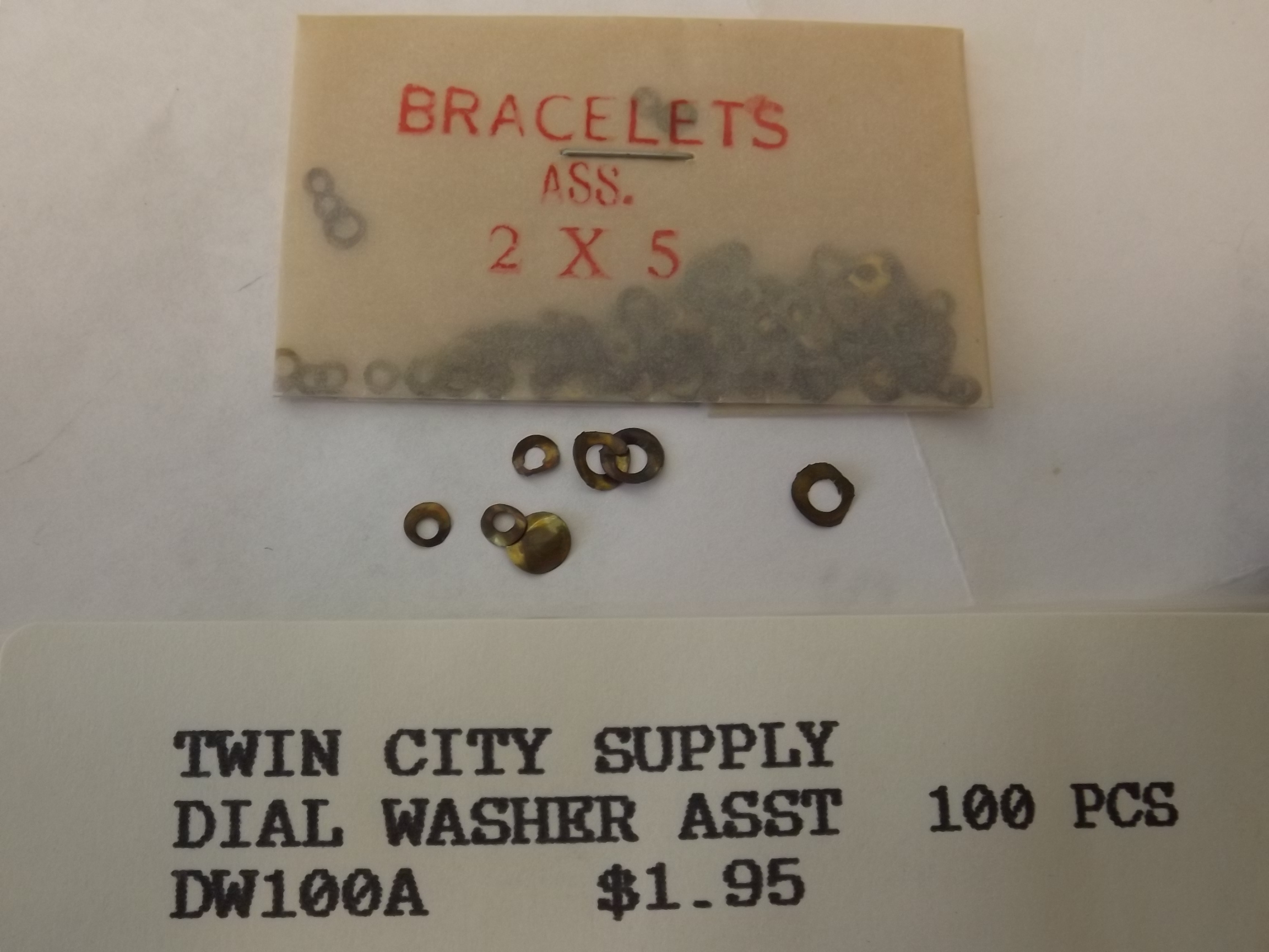 DW100A Dial Washer Assortment of 100 pieces