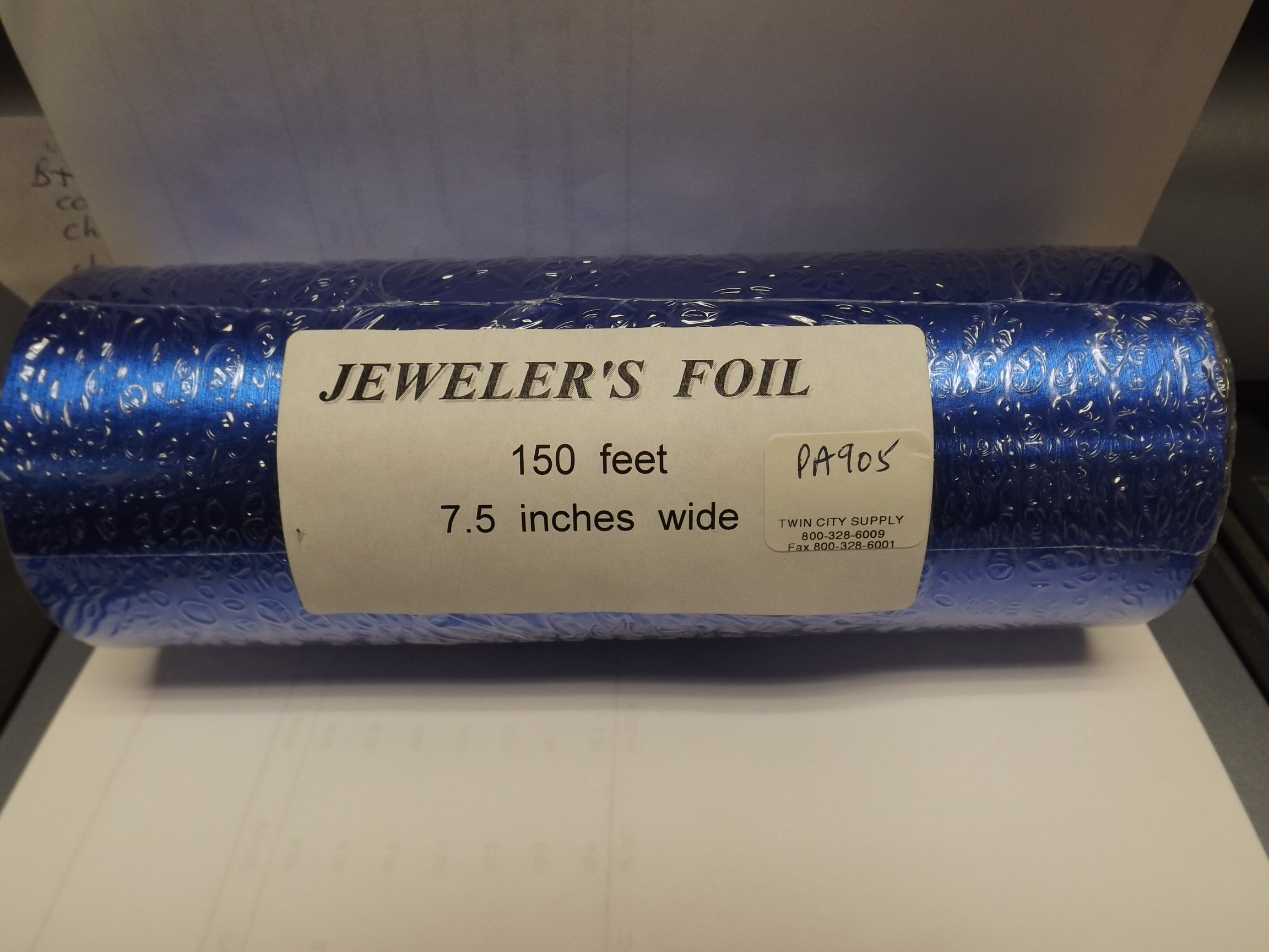 PA905 Royal Blue Satin Jewelers Roll of Foil Wrapping Paper