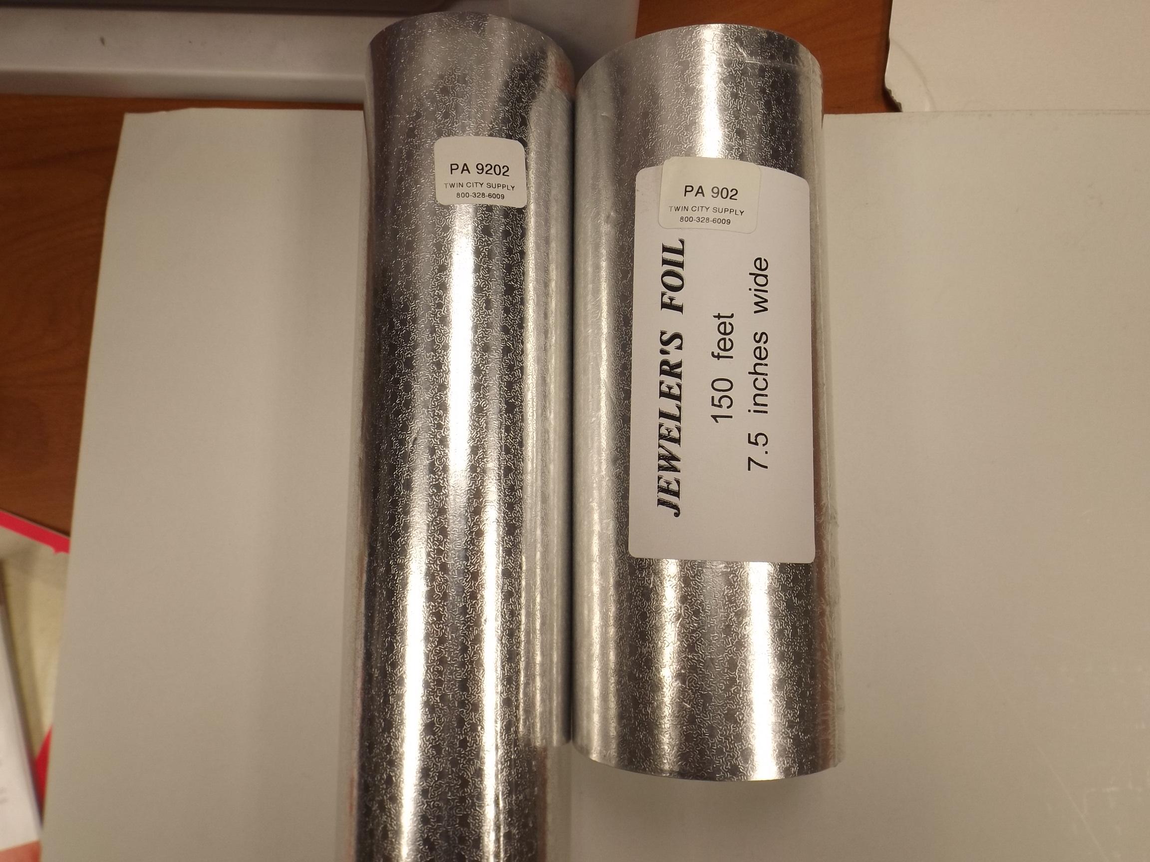 "PA902 Silver Nugget Foil Jewelers Roll 7 1/2"" x 150 feet"