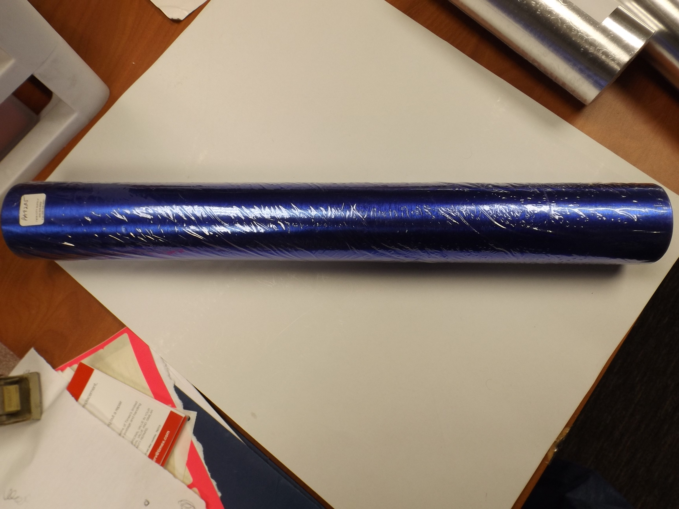 """PA9205 ROYAL BLUE Satin Foil Gift Wrapping Paper--20"""" x 100'"""