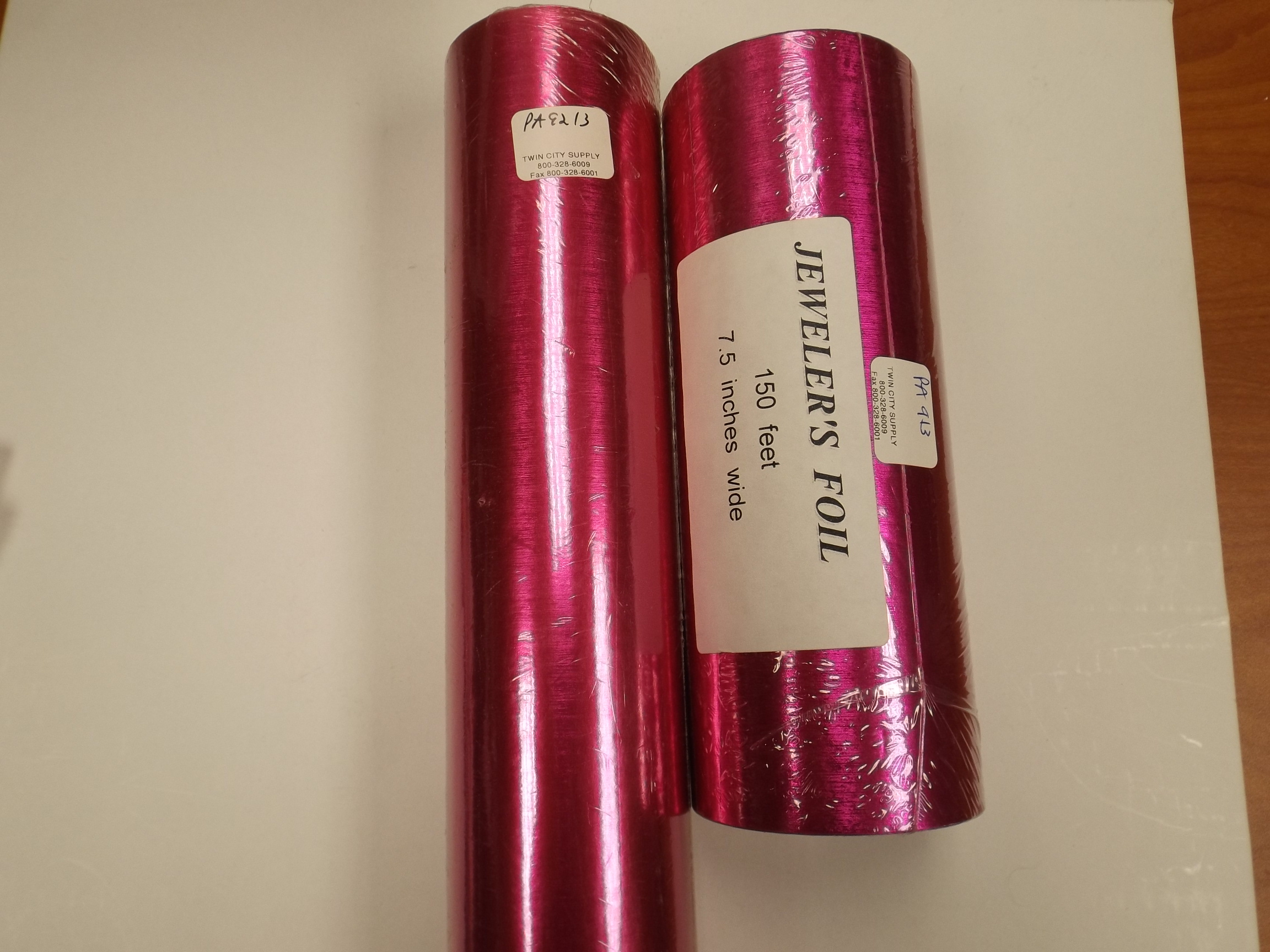 """PA9213 Fuschia Satin Foil Gift Wrapping Paper-20"""" x 100' - TWO left!"""