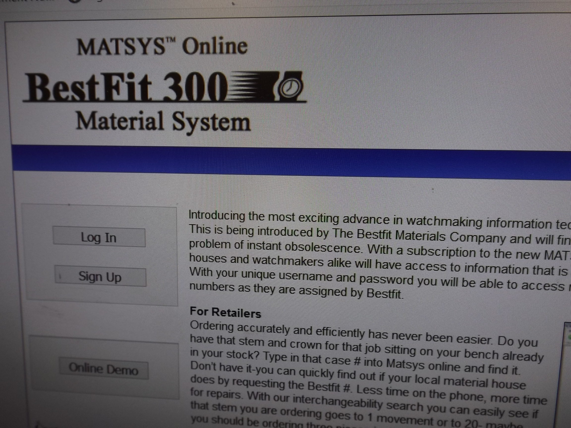 MATSYS-1 MATSYS Online Bestfit 300 Material System-- You Need This!