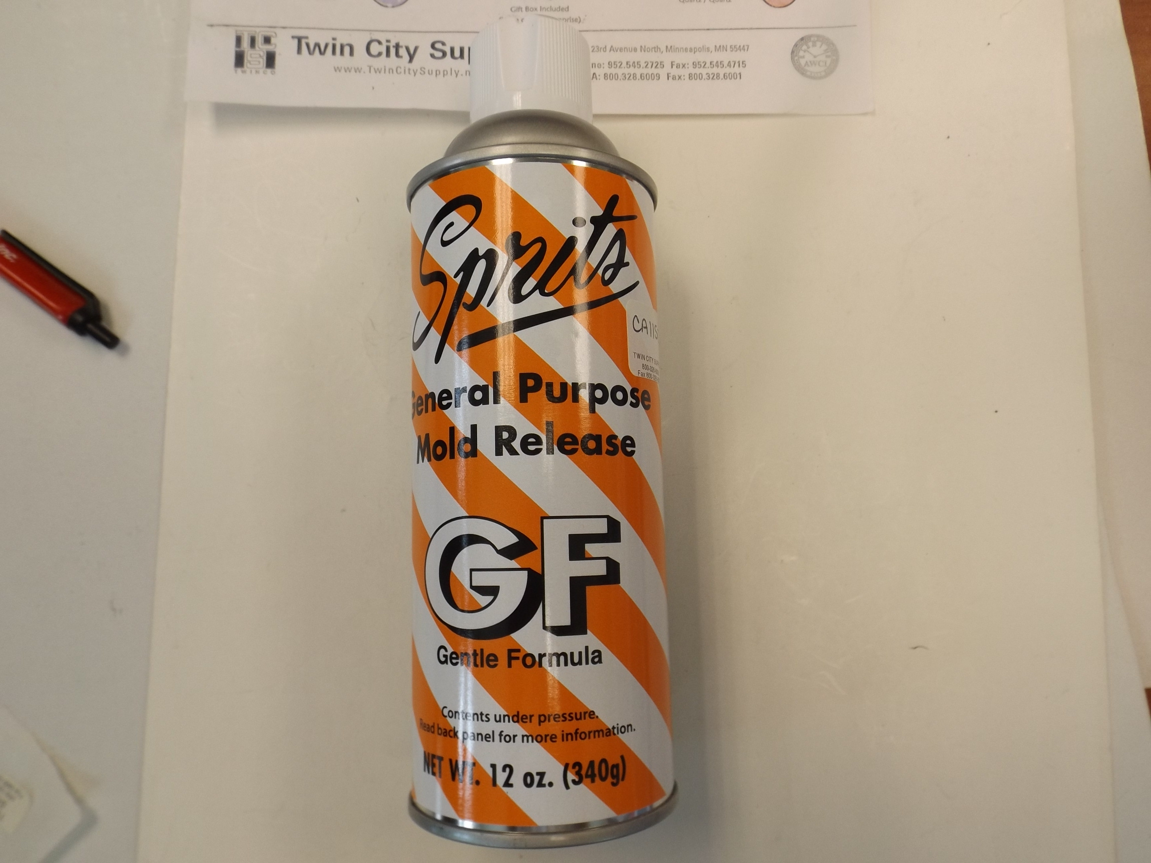 CA1150 New! Mold Release Spray, 12 oz. Spirit Brand- IKOHE #27-1715