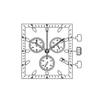 MIYFS01 Miyota Quartz Watch Movement