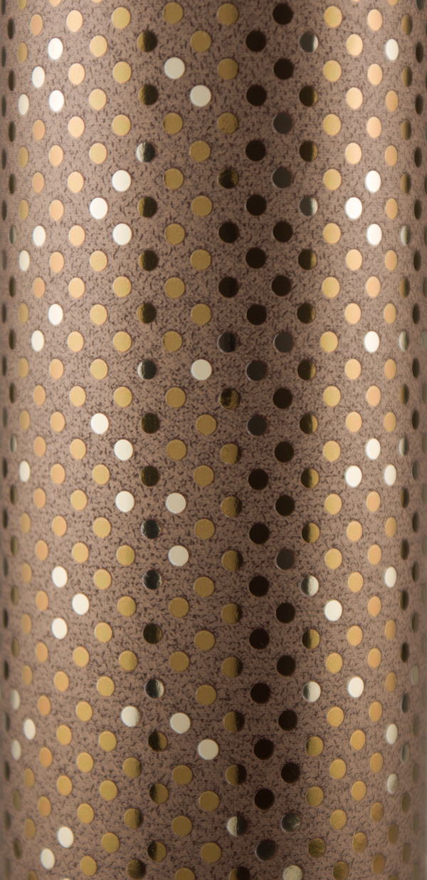 PA801 Jewelers Roll Giftwrap Bronze Dots