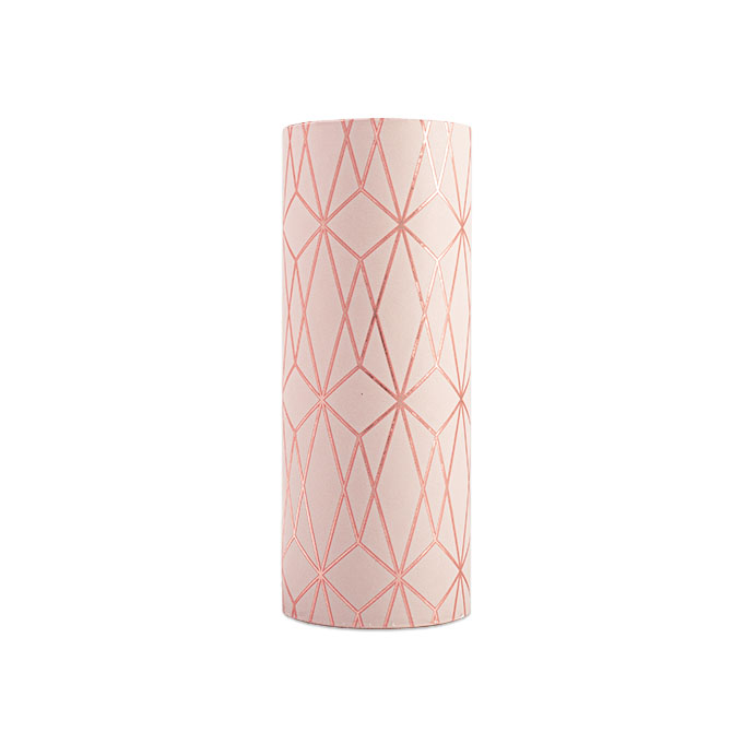 PA873 Jewelers Roll Giftwrap- New! Geo Rose- Metallized