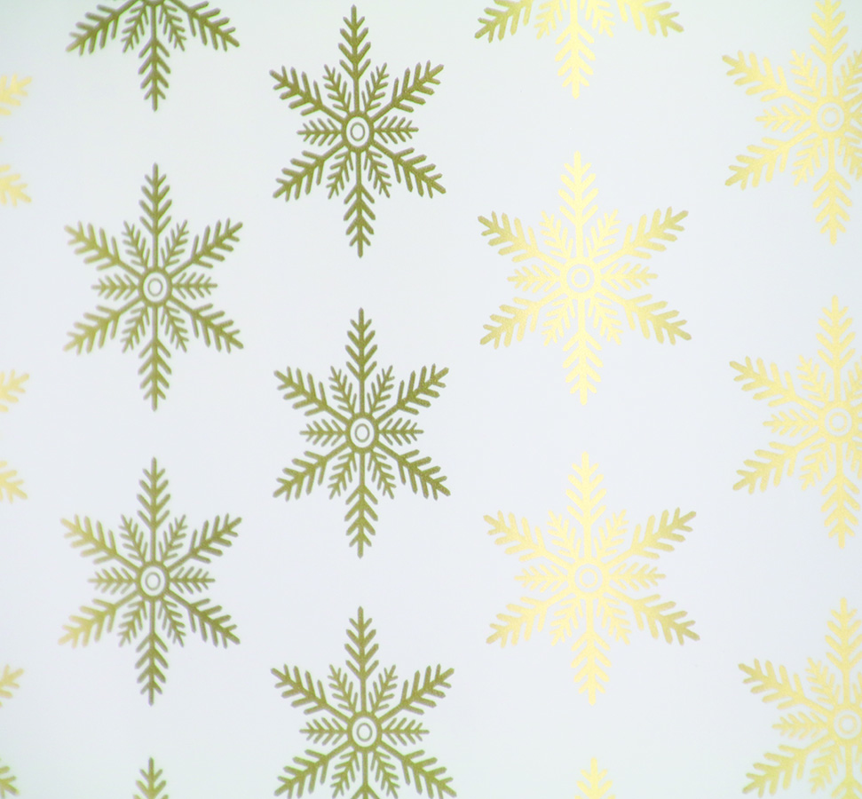 PA861 Jewelers Roll Giftwrap- Guilded Snowflakes