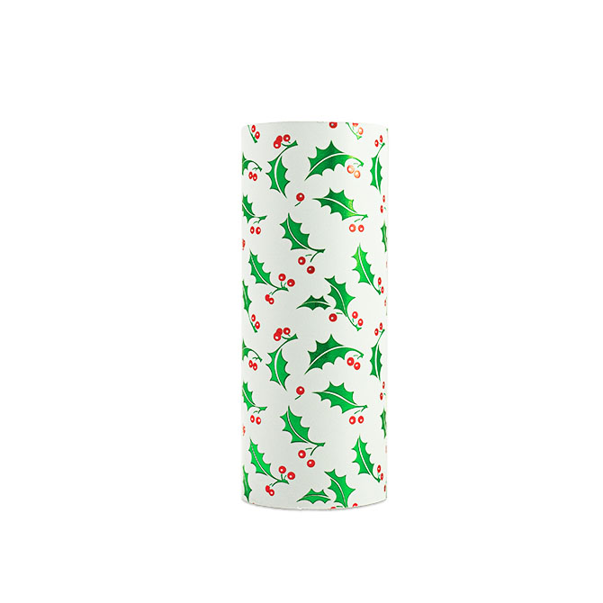 PA872 Jewelers Roll Giftwrap- New! Holly Frost- Metallized