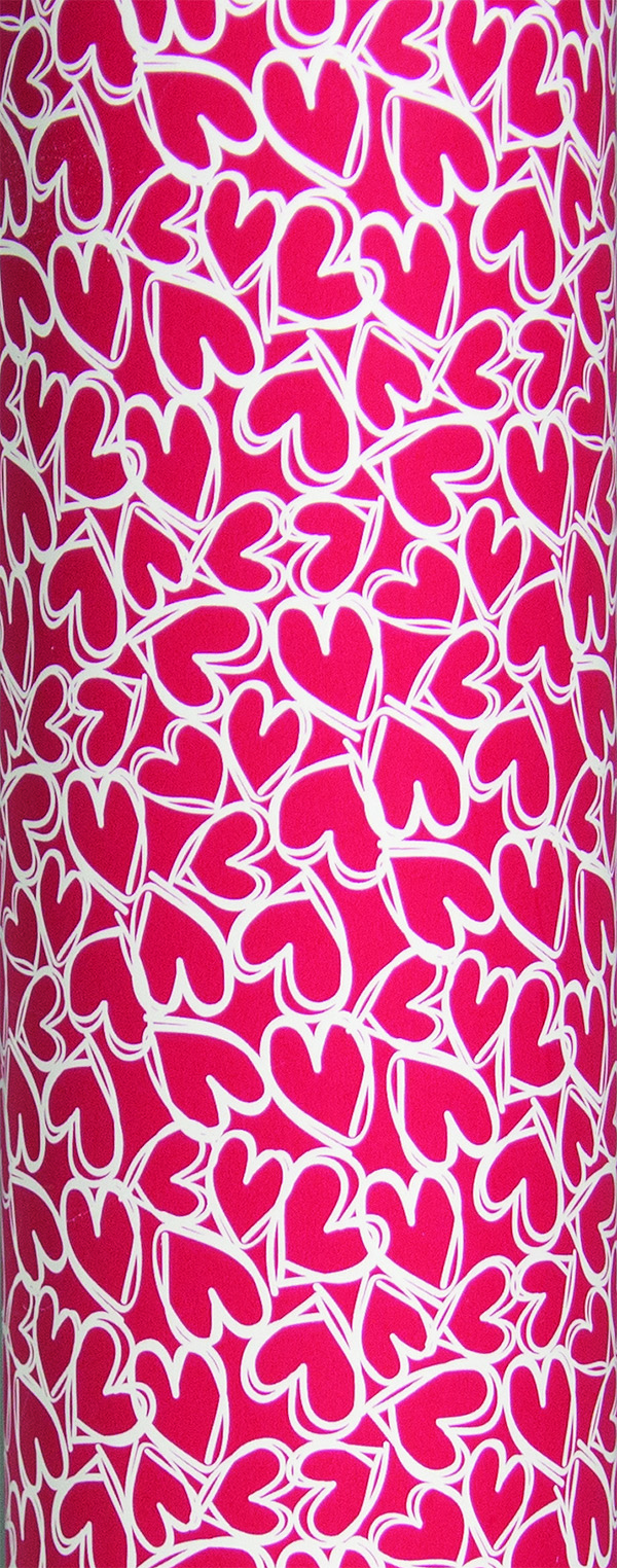 PA860 Jewelers Roll Giftwrap- Red Hearts