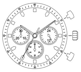 MIYJS20 Miyota Quartz Watch Movement