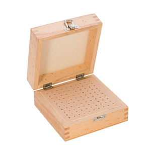 PKG-100.00 New! 100 HOLE WOOD BOX- Eurotool