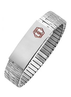 SB1700MED-7.5 STAINLESS STEEL Expansion MEDICAL ID Bracelet- New!- Alpine