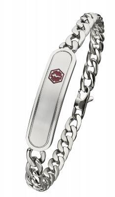 SB745MED Medical ID Bracelet- Stainless Steel -New!- Alpine