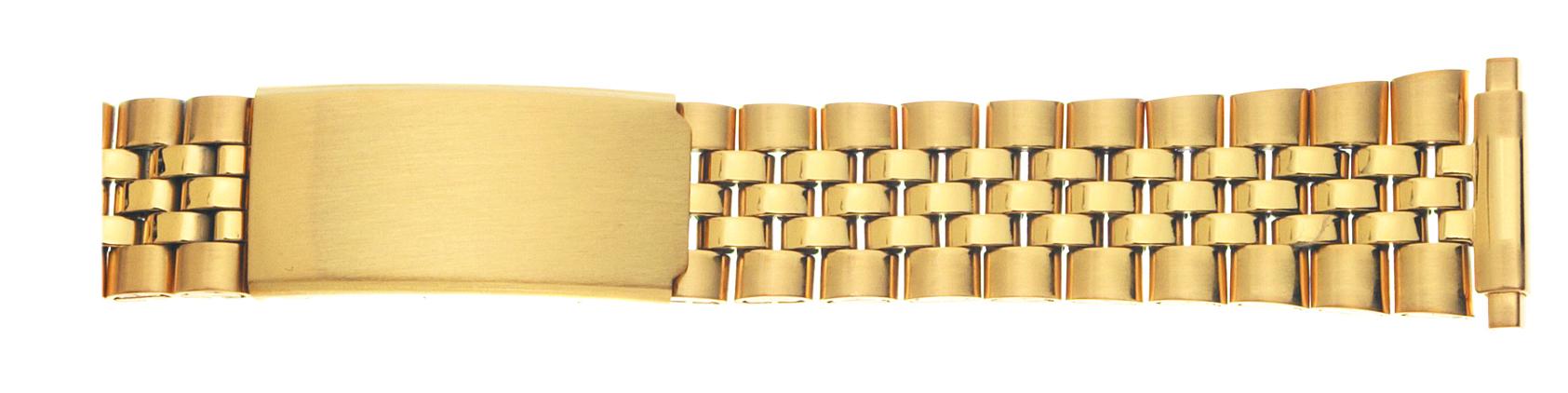 K1Y Watchbands 2 Go Mens Metal Dress Bracelet 16-21MM Yellow