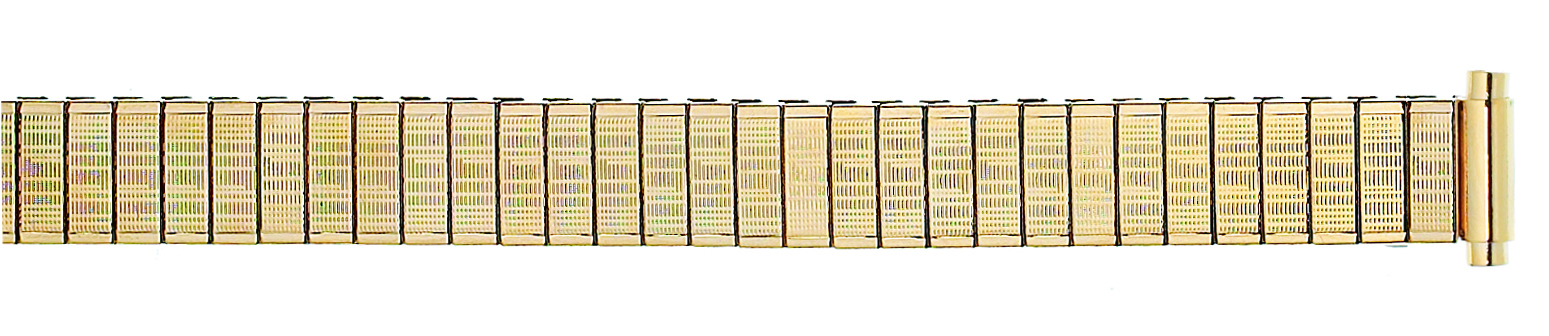 K31Y Watchbands 2 Go Womens Metal Dress Expansion Band 9-12MM LONG Yellow