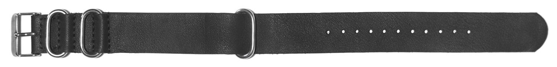 K410BL Nato Watchbands  Black Leather- Last One!