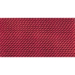 CD106/2 Griffith Nylon Bead Cord #2 Color: Garnet- Eurotool BDC-106.02