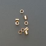 CD115 GOLD FILLED TUBE CRIMPS 2MM X 2MM-Pkg. of 100-Eurotool #BDS-110.05